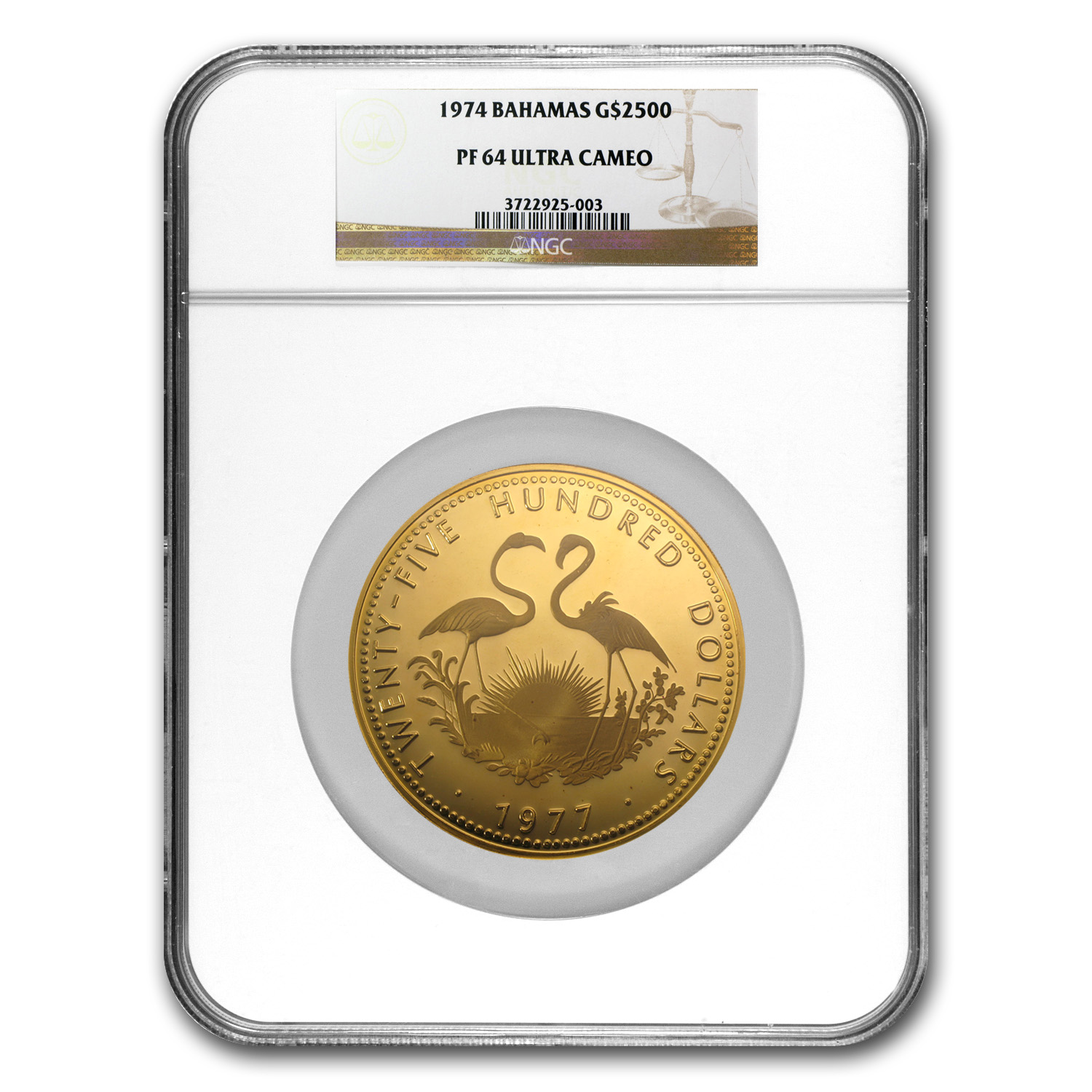 1974 Bahamas 12 oz Proof Gold $2500 PF-64 NGC
