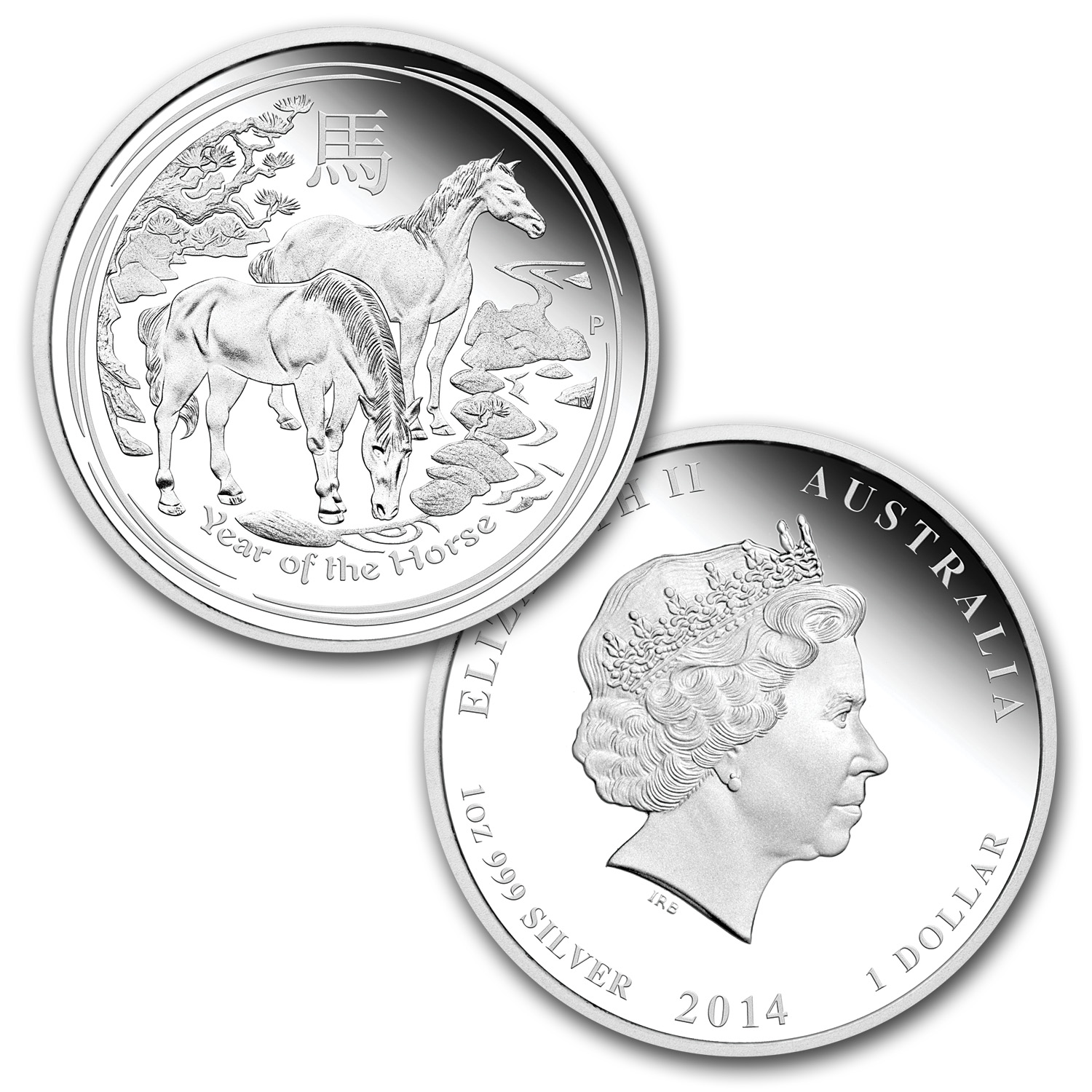 2014 Australia 4-Coin 1 oz Silver Year of the Horse Type Set