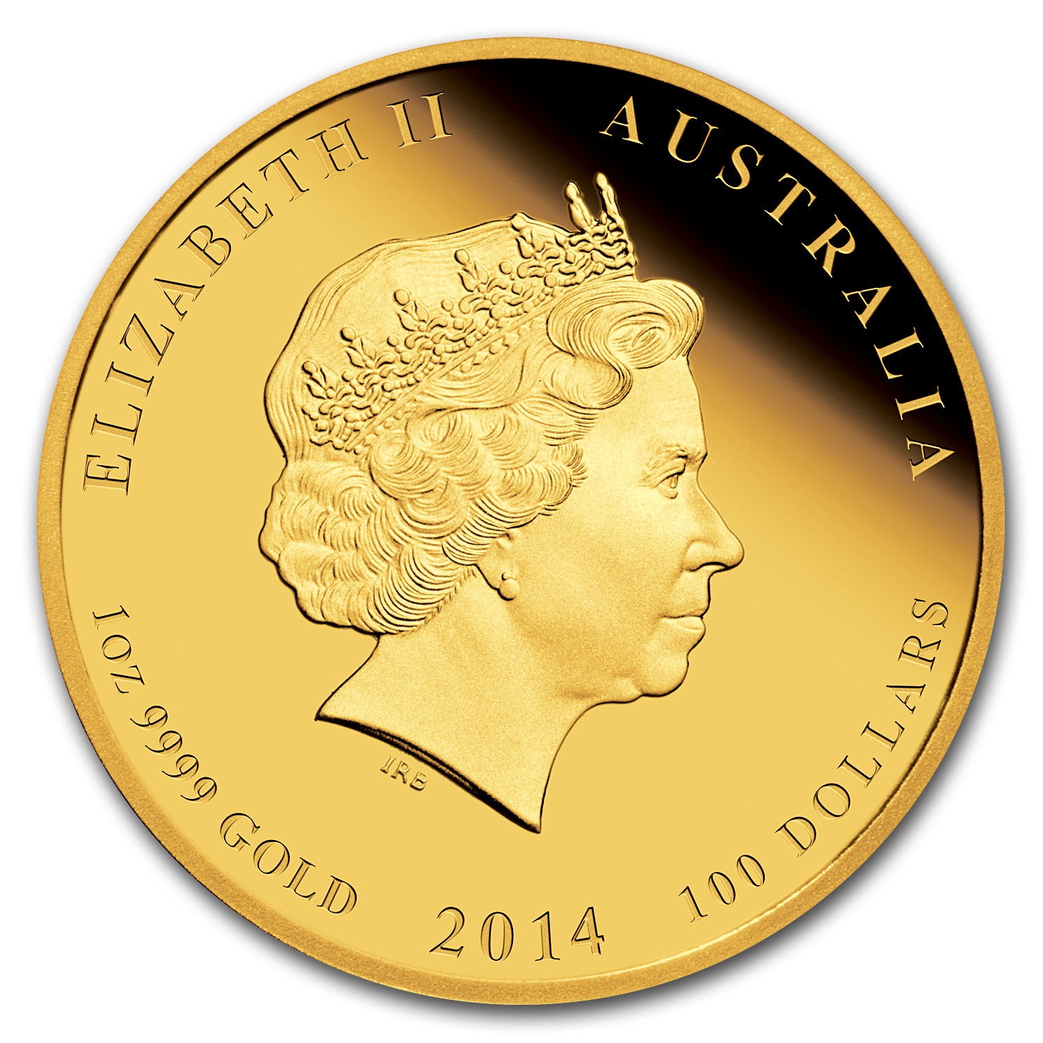 2014 Australia 1 oz Gold Lunar Horse Proof (SII, Colorized)