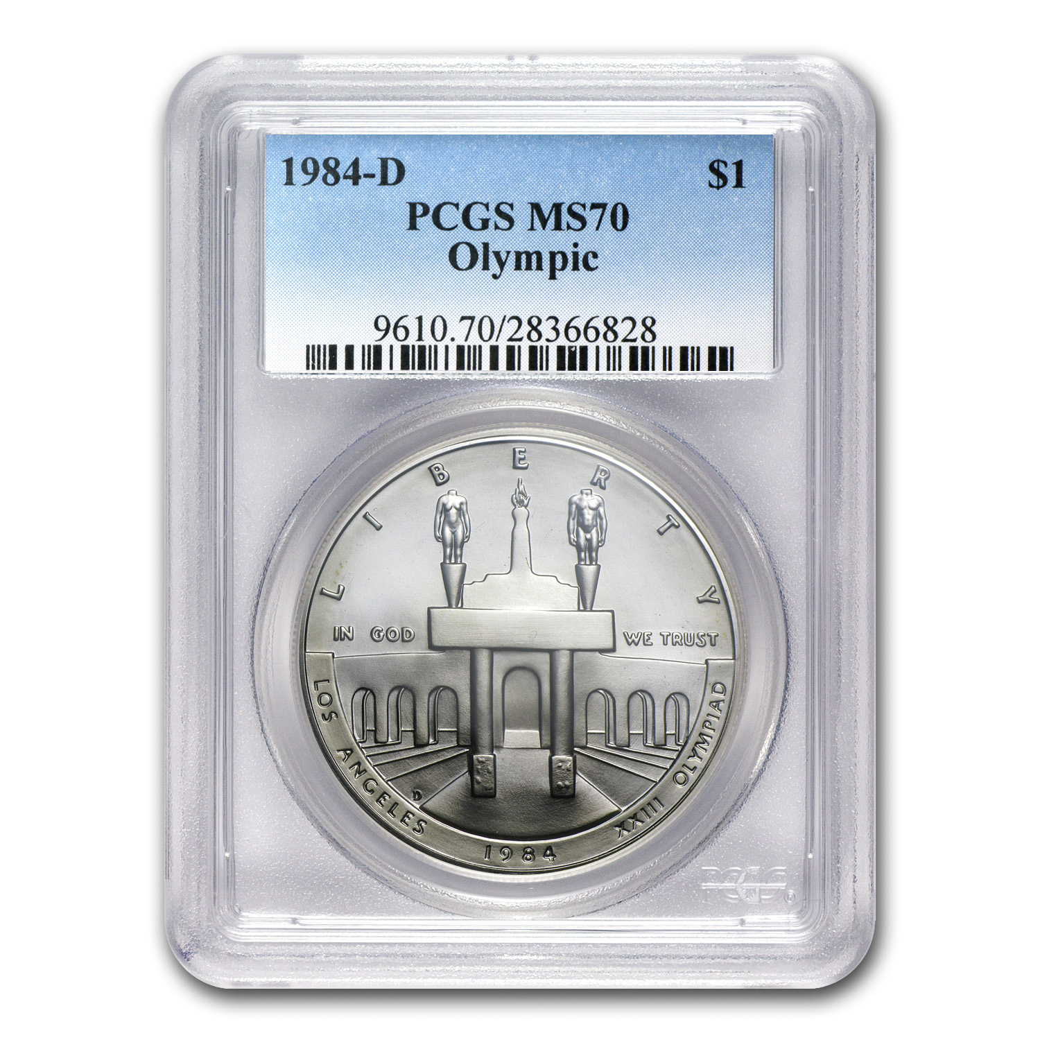 1984-D Olympic $1 Silver Commem MS-70 PCGS