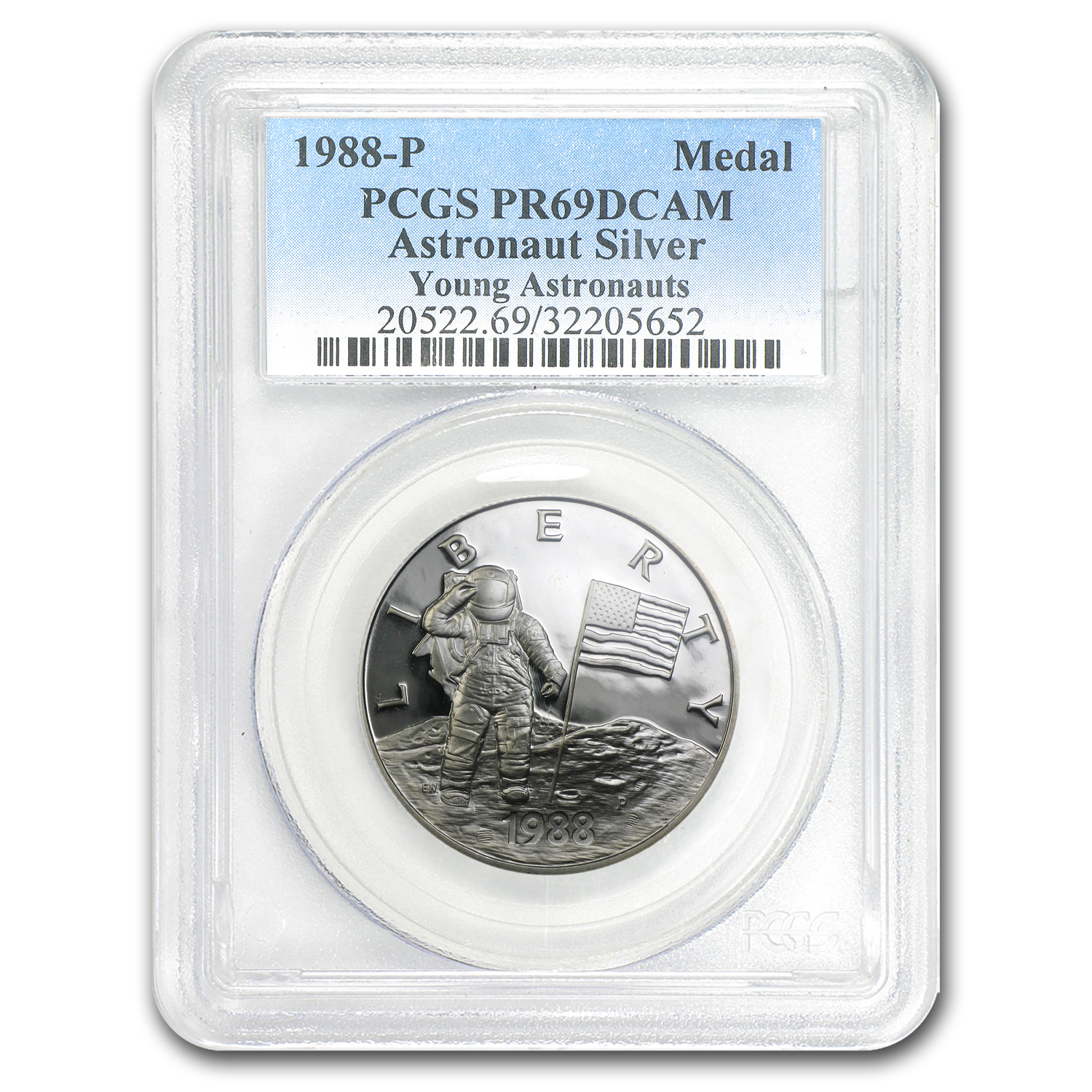 1988 Young Astronauts Silver Medal PR-69 PCGS