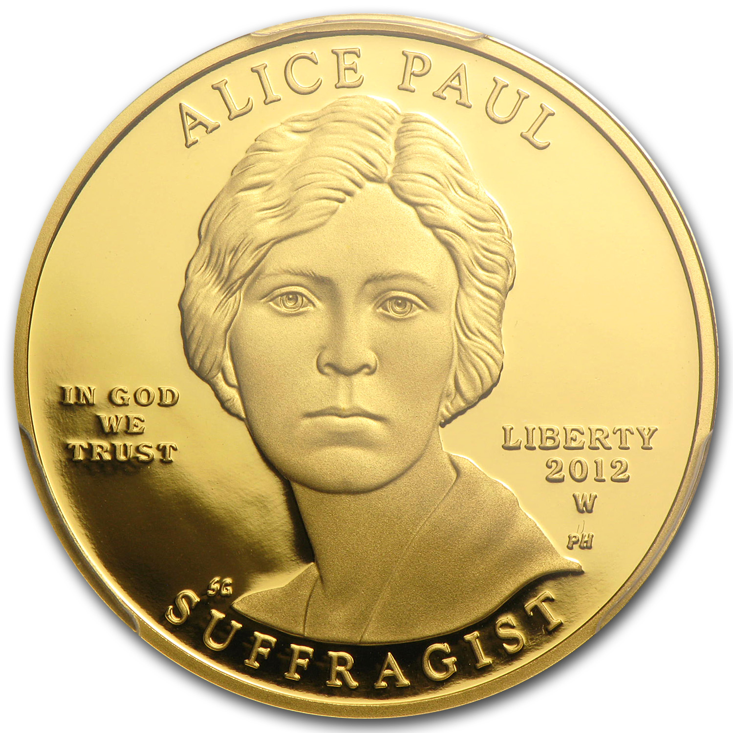 2012-W 1/2 oz Proof Gold Alice Paul PCGS PR-70 DCAM
