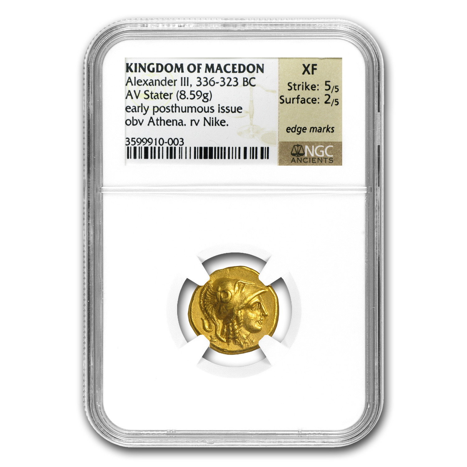 Macedonia Gold Stater of Alexander III XF NGC (336-323 BC)