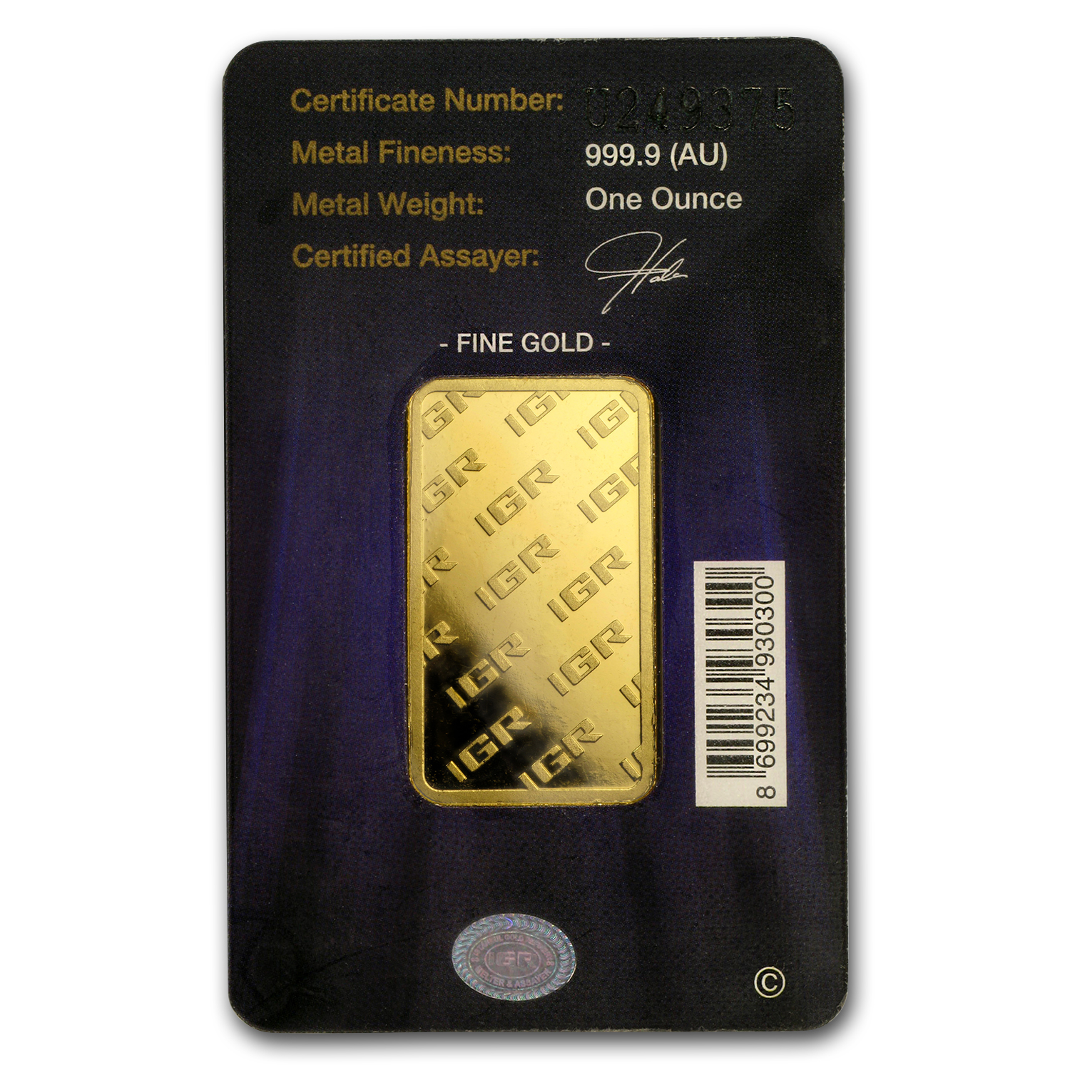 1 oz Gold Bars - Istanbul Gold Refinery (In Assay)