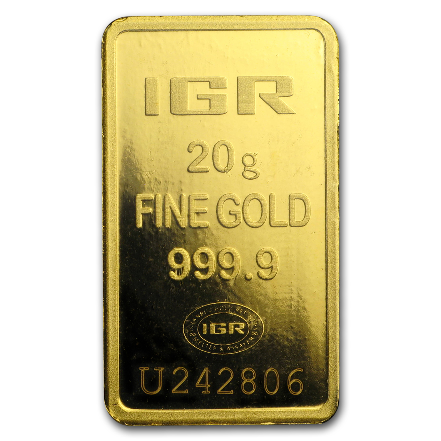 20 gram Gold Bar - Istanbul Gold Refinery (In Assay)