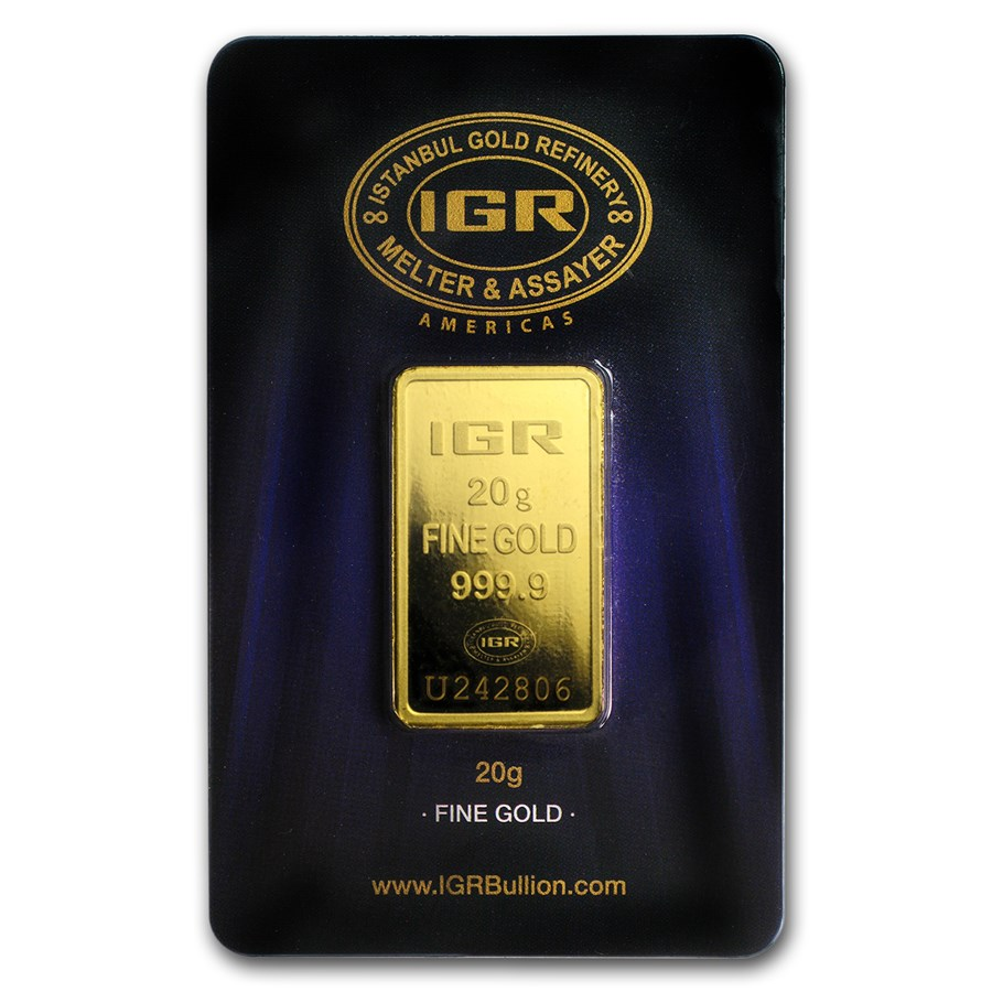 20 Gram Gold Bar Istanbul Gold Refinery In Assay
