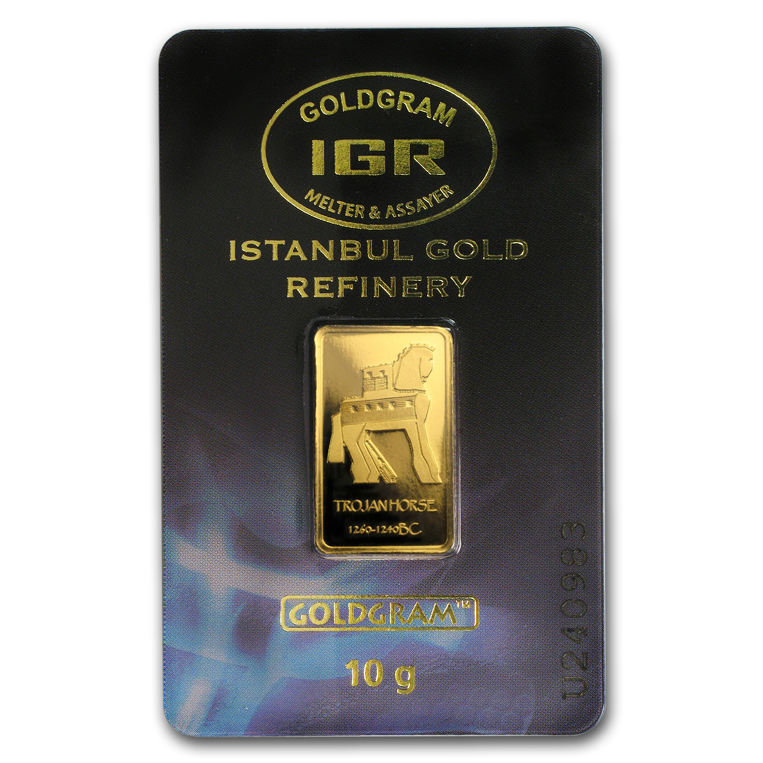 10 gram Gold Bars - Istanbul Gold Refinery (Trojan Horse, Assay)
