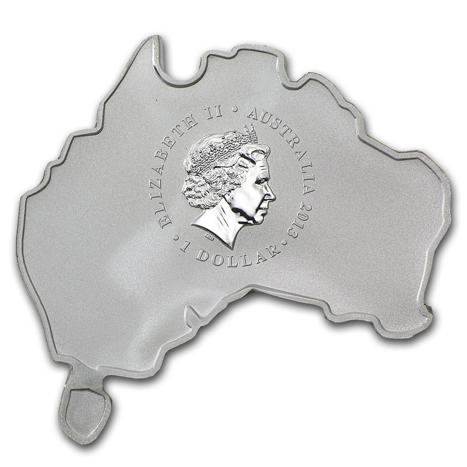 2013 Australia 1 oz Silver Platypus (Map Shape)