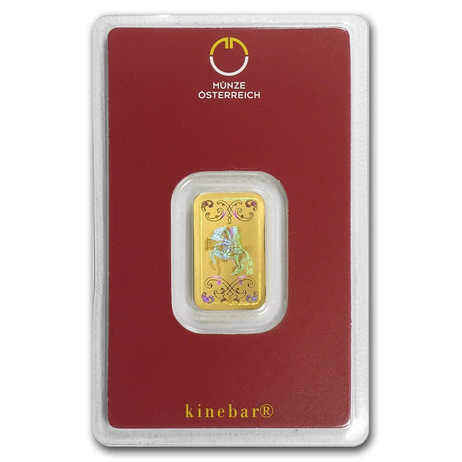 5 gram Gold Bar - Austrian Mint (KineBar Design, In Assay)