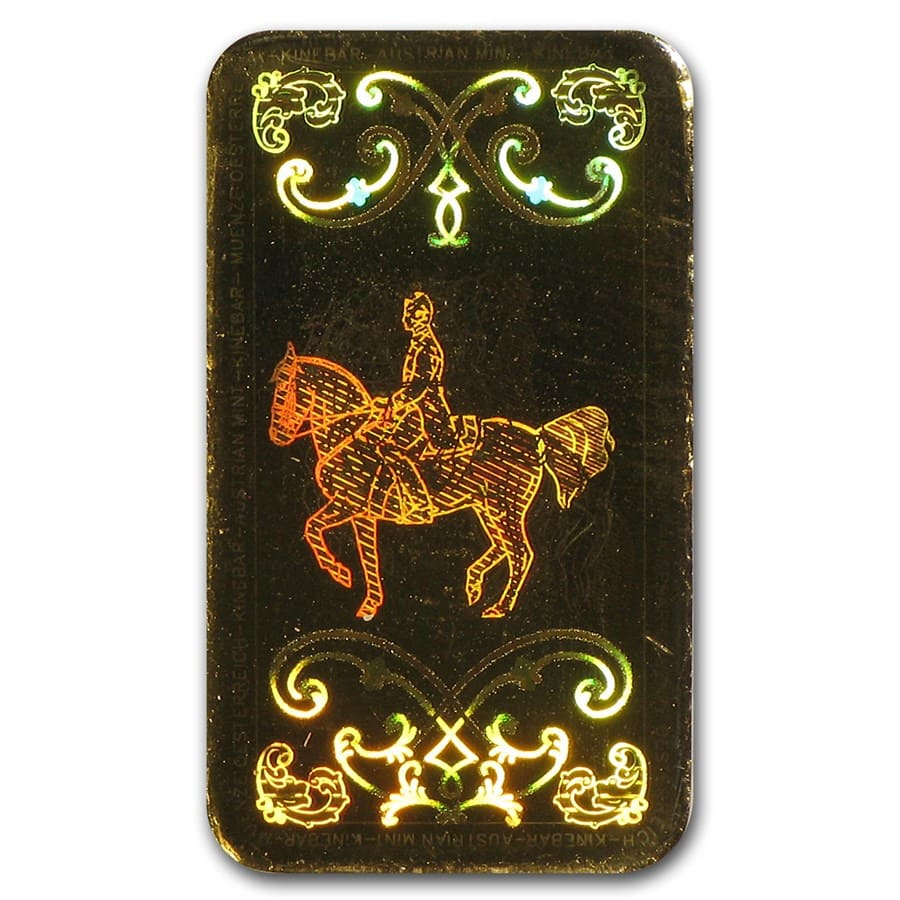 1 gram Gold Bar - Austrian Mint (KineBar Design) (In Assay)