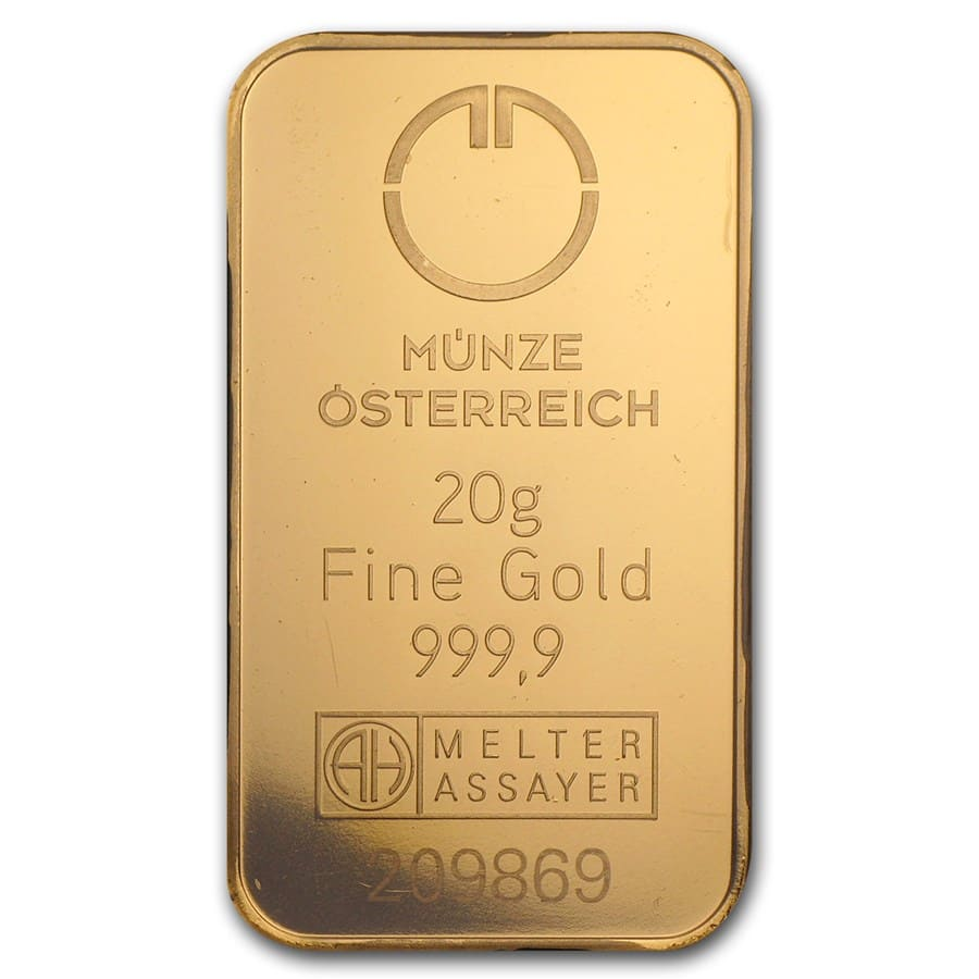20 gram Gold Bars - Austrian Mint (In Assay)