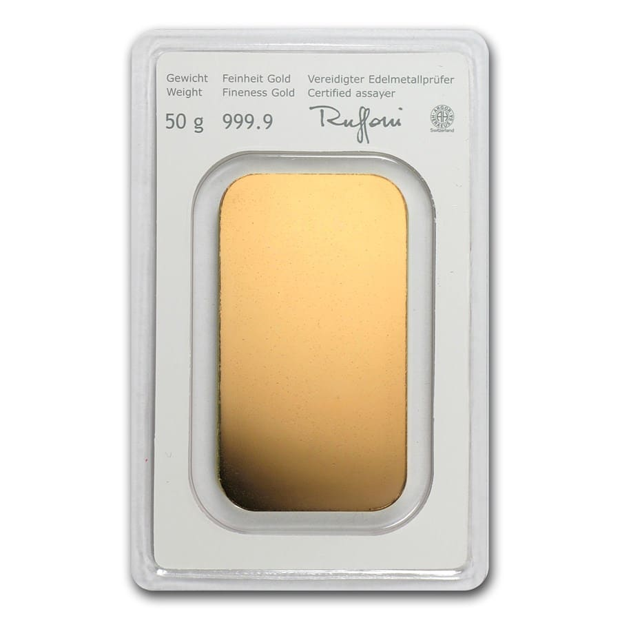 50 gram Gold Bars - Austrian Mint (In Assay)