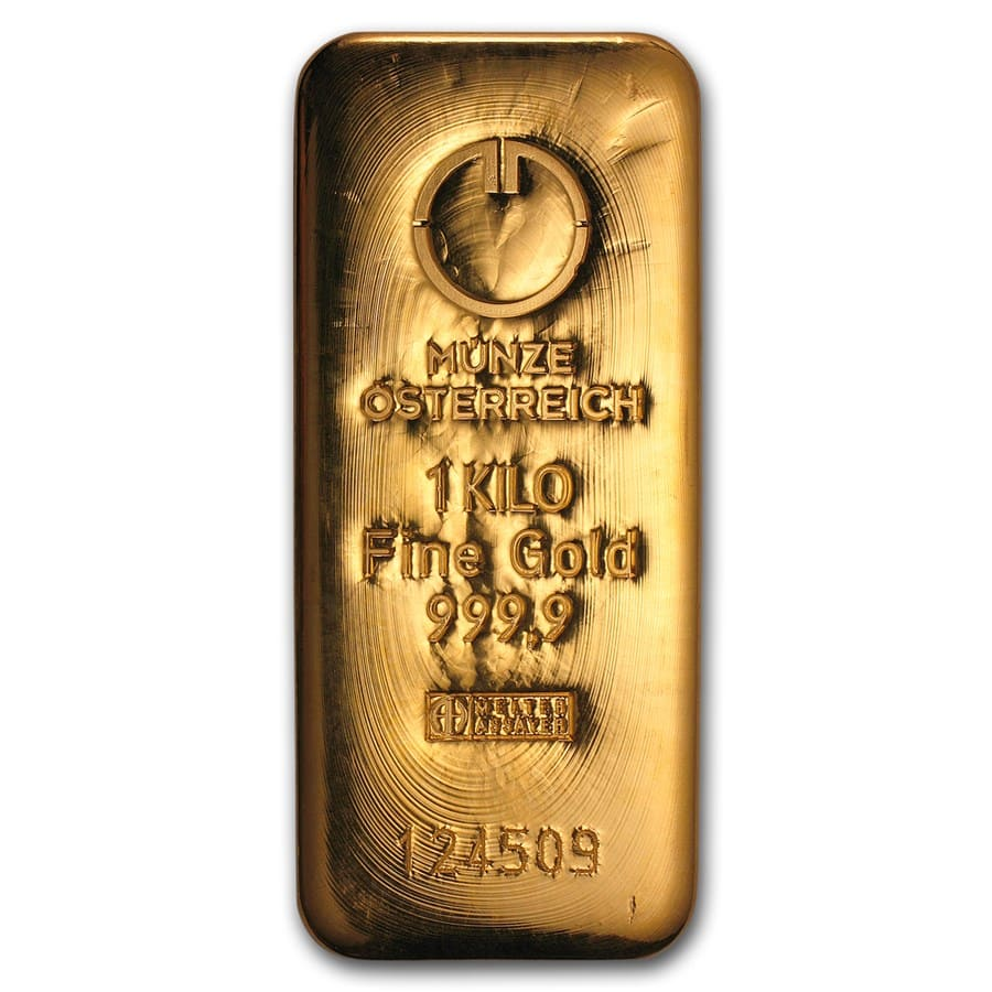1000 gram (Kilo) Gold Bar - Austrian Mint (Cast)