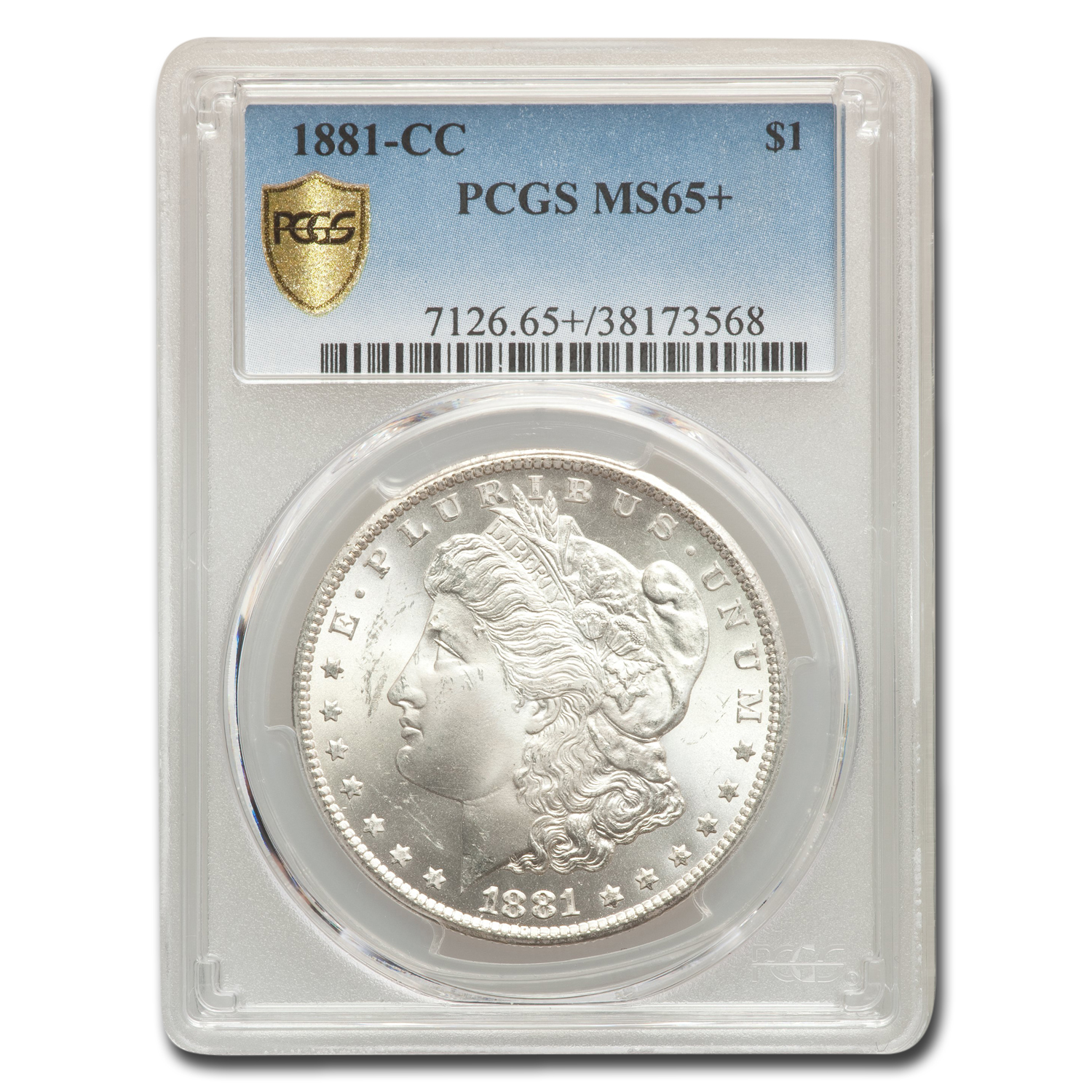 1881-CC Morgan Dollar MS-65+ Plus PCGS