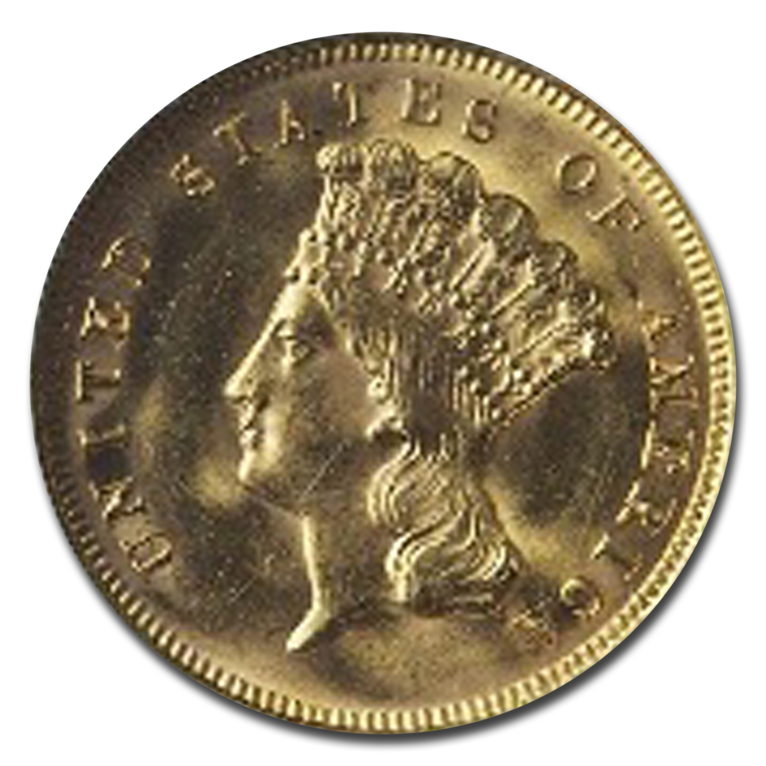 1878 $3 Gold Princess - MS-64+ NGC
