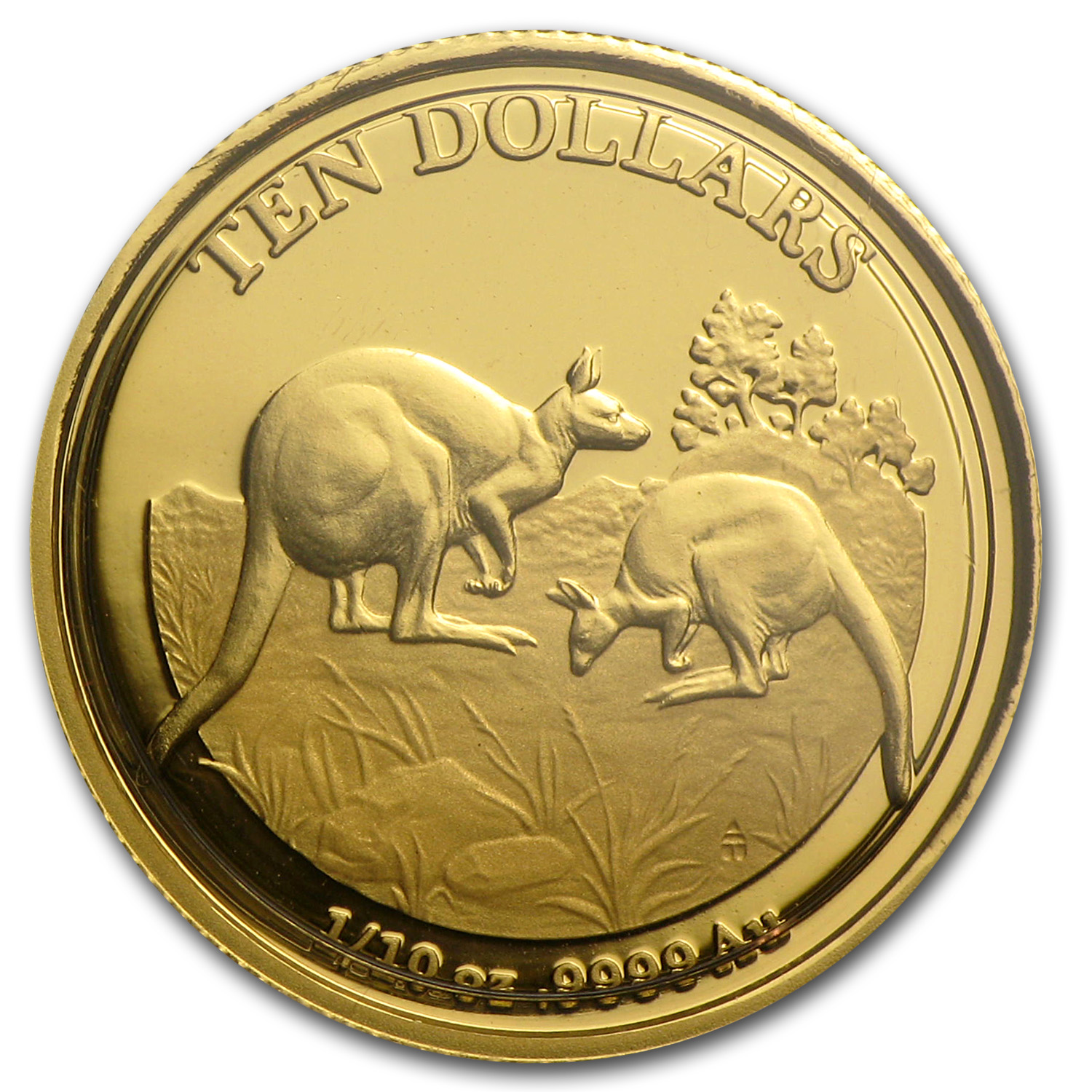 2014 Australia 1/10 oz Proof Gold Kangaroo