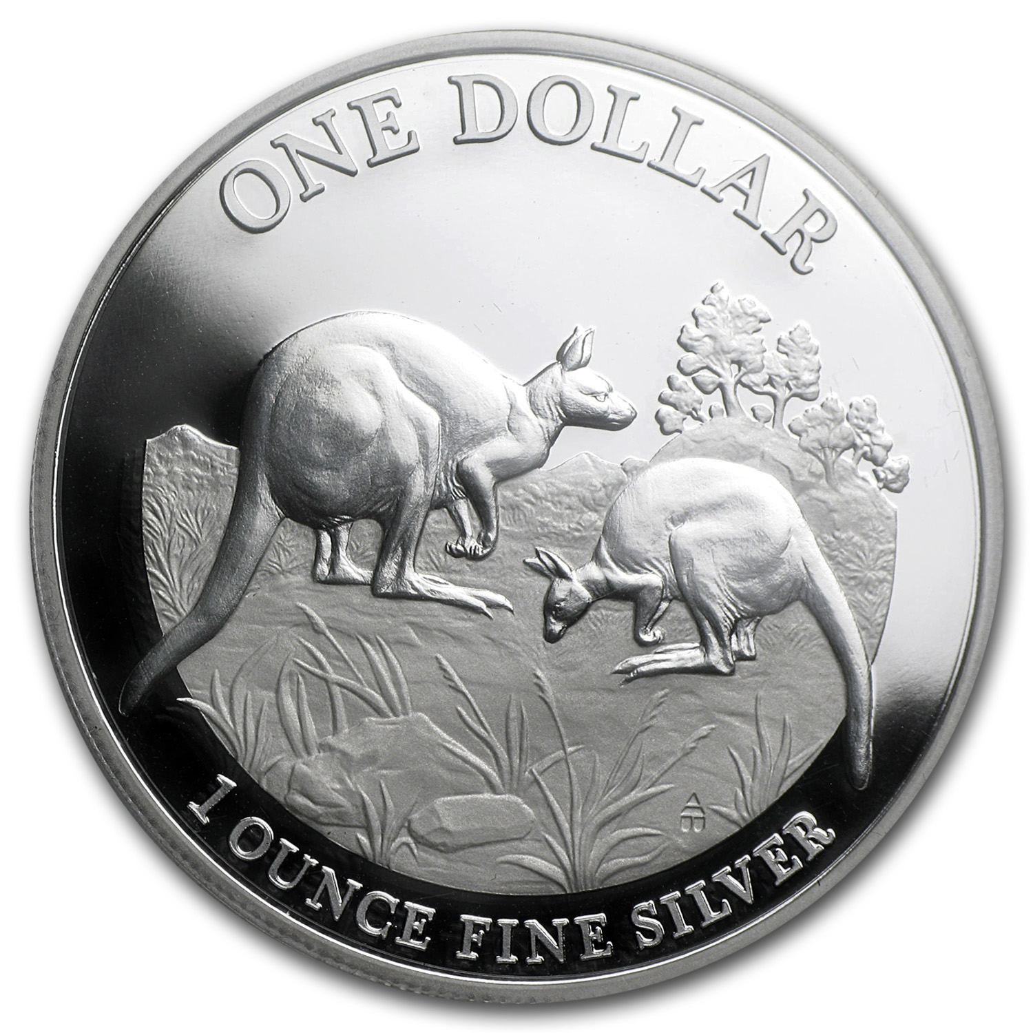 2014 Australia 1 oz Proof Silver Kangaroo (w/Box and COA)