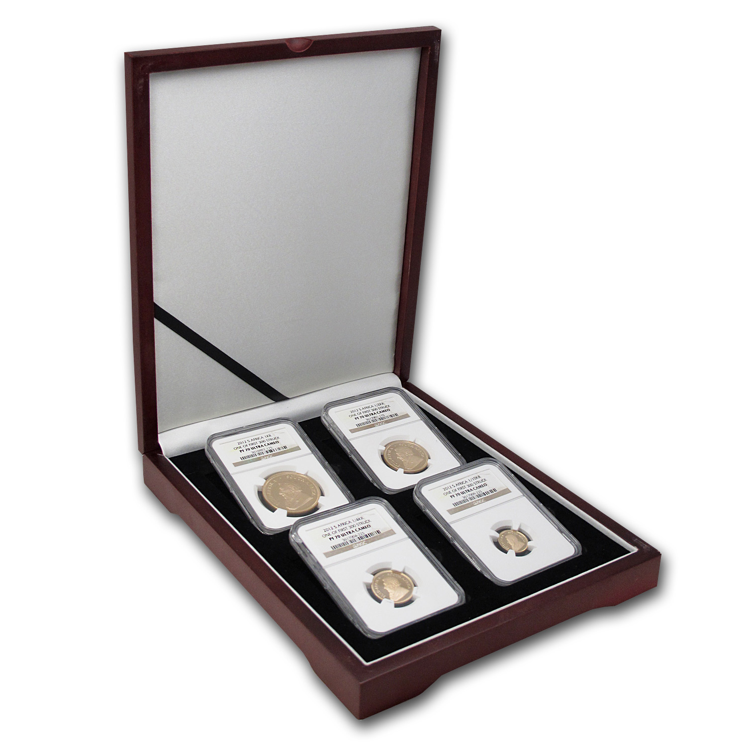 2012 4-Coin Gold South African Krugerrand Proof Set PF-70 NGC