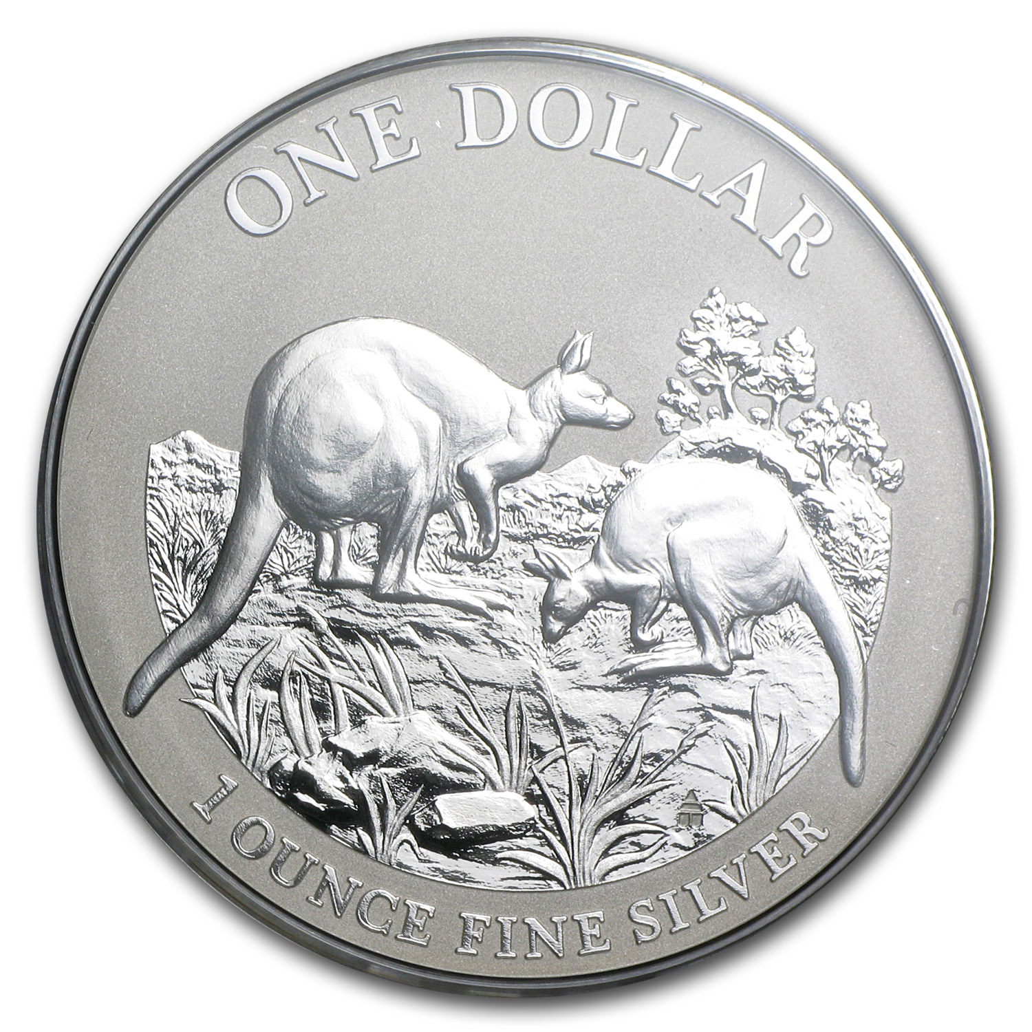 2014 1 oz Australian Silver Kangaroo (In Display Card)
