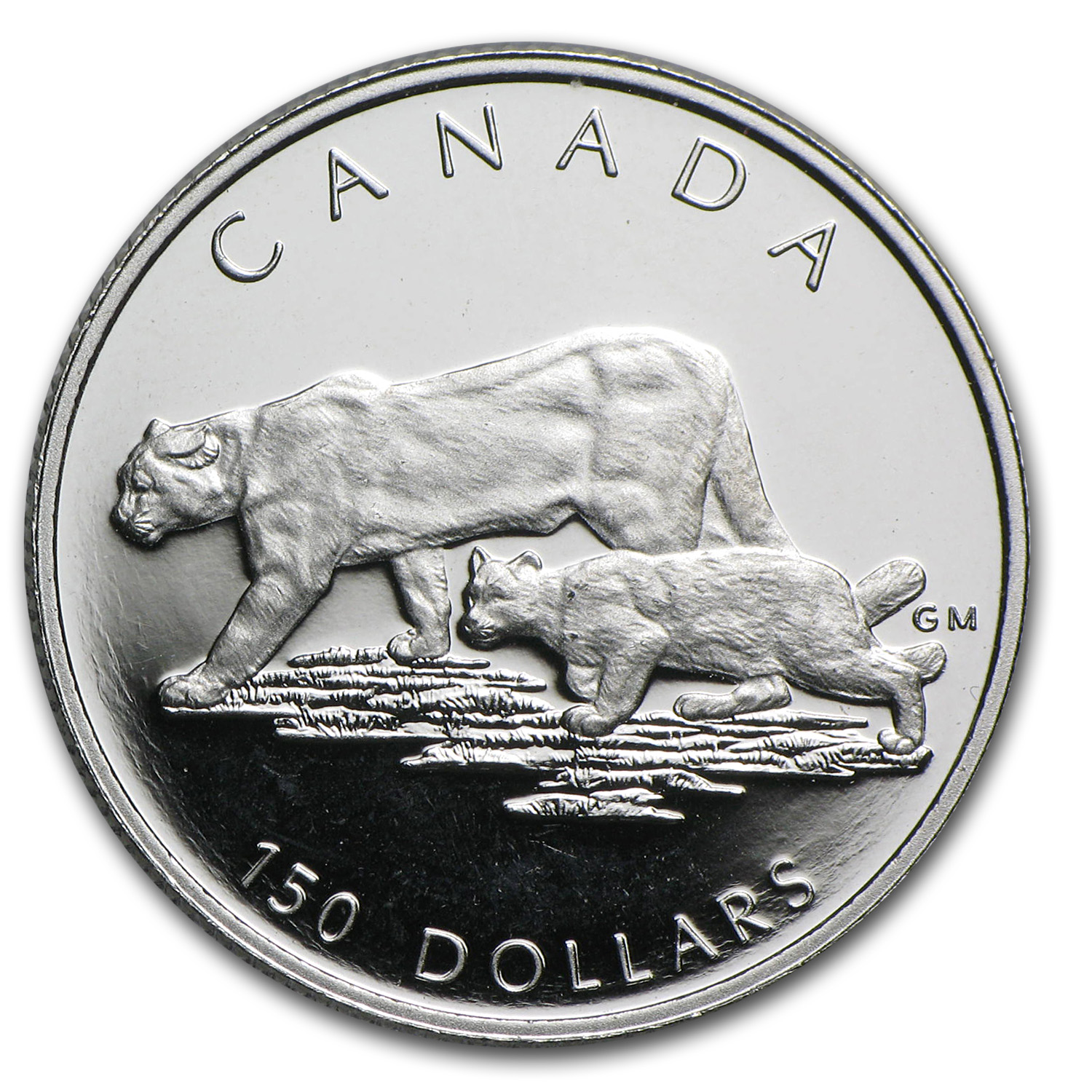 1992 Canada 1/2 oz Proof Platinum Cougar $150