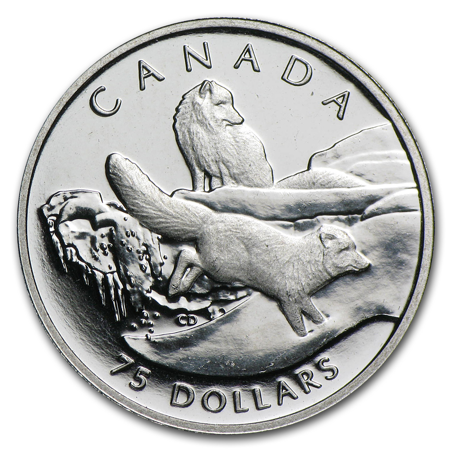 1993 1/4 oz Canadian Platinum Arctic Fox $75 (Proof)
