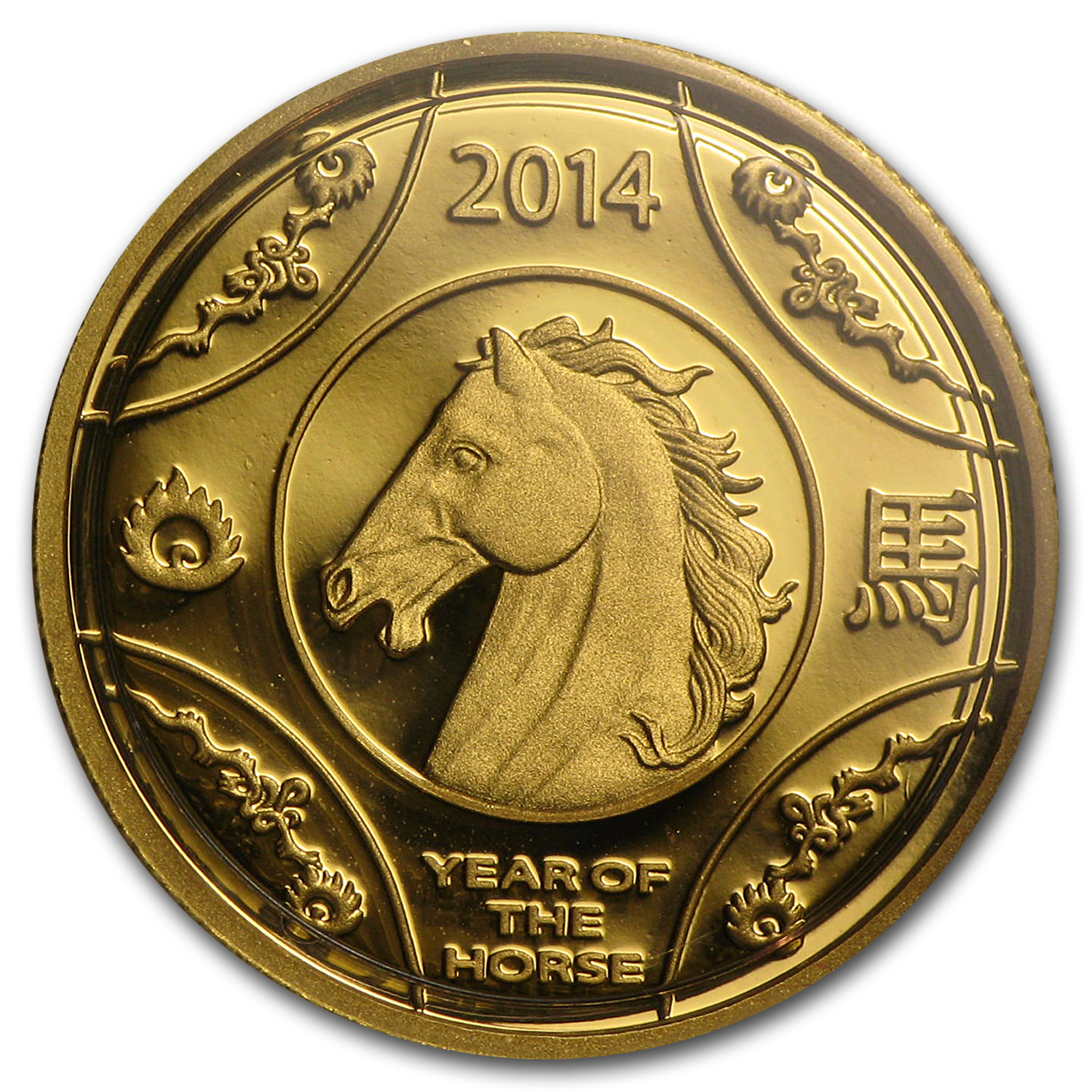2014 Australia 1/10 oz Proof Gold Year of the Horse