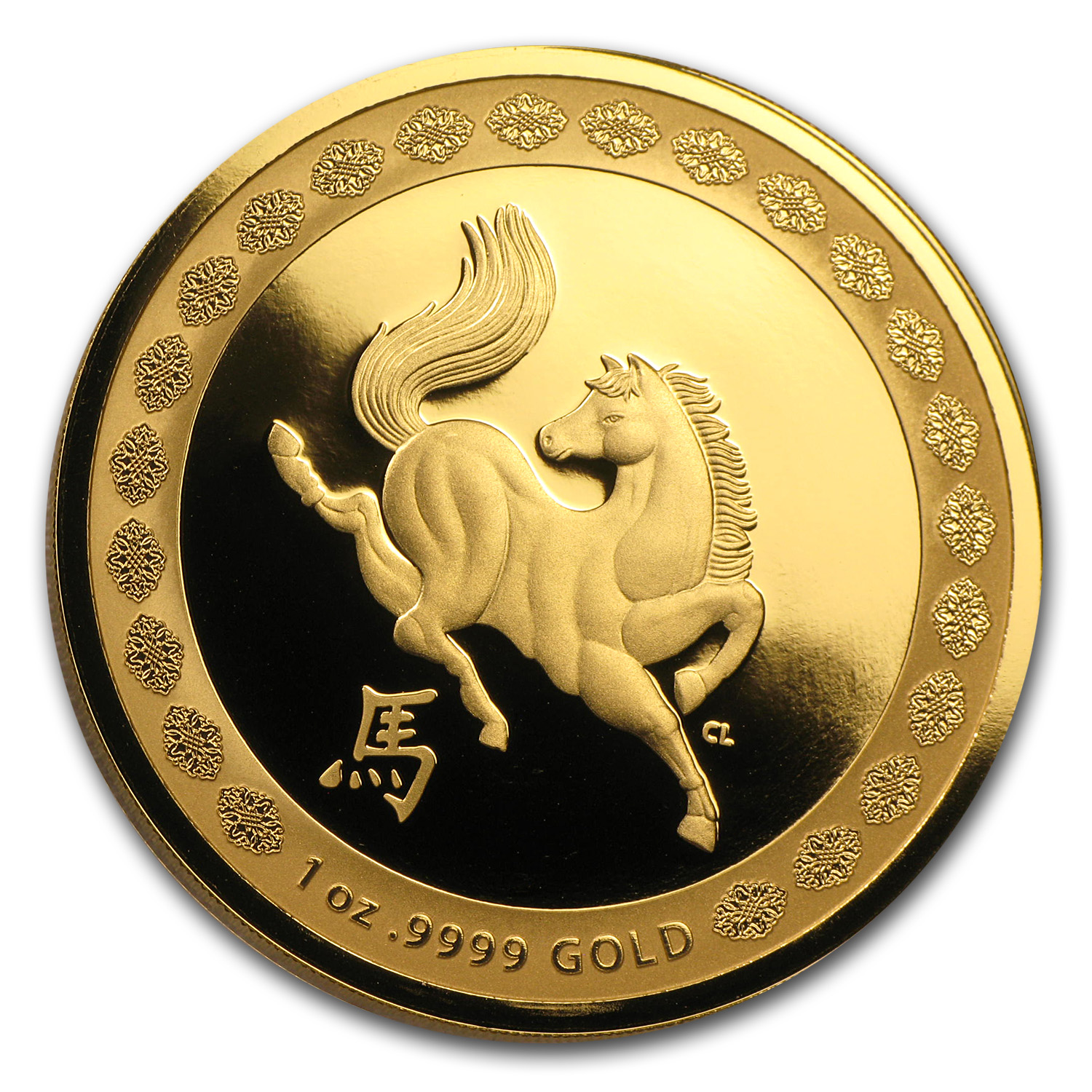 2014 Australia 1 oz Proof Gold Year of the Horse