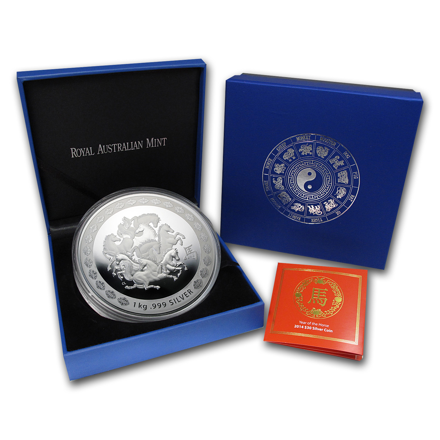 Royal Australian 2014 Year of the Horse - Kilo Silver Proof-Like