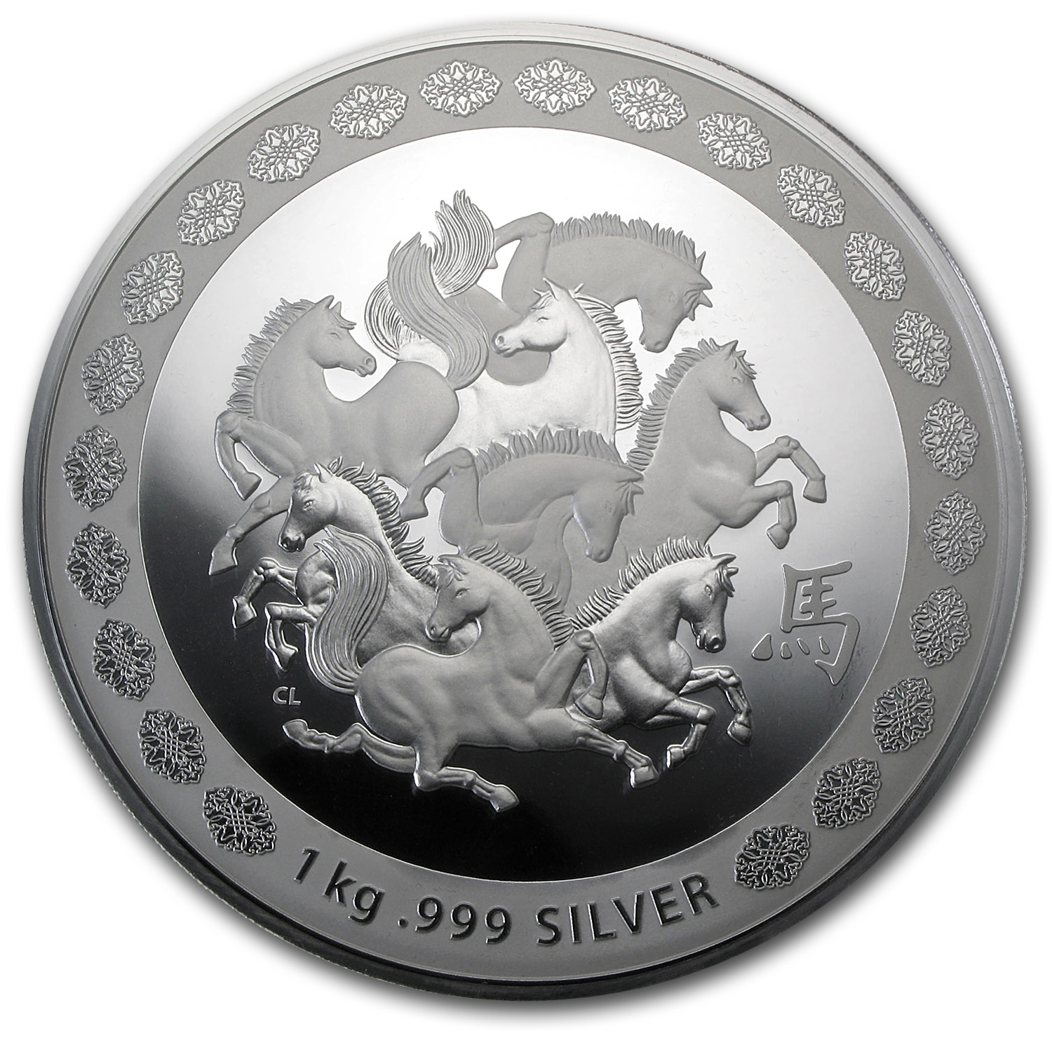 2014 Australia kilo Silver Year of the Horse Proof-Like
