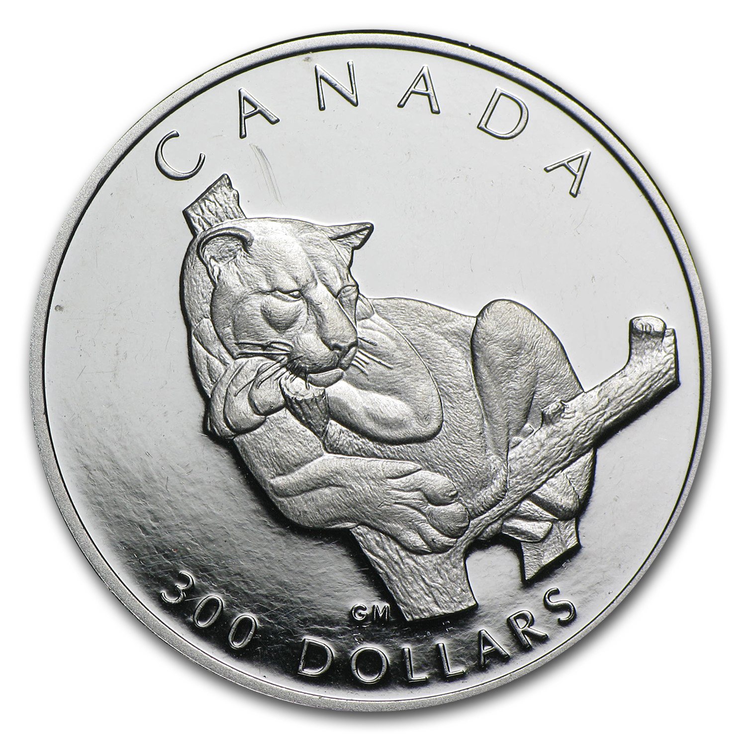 1992 1 oz Platinum Canadian Cougar $300 (Scruffy)