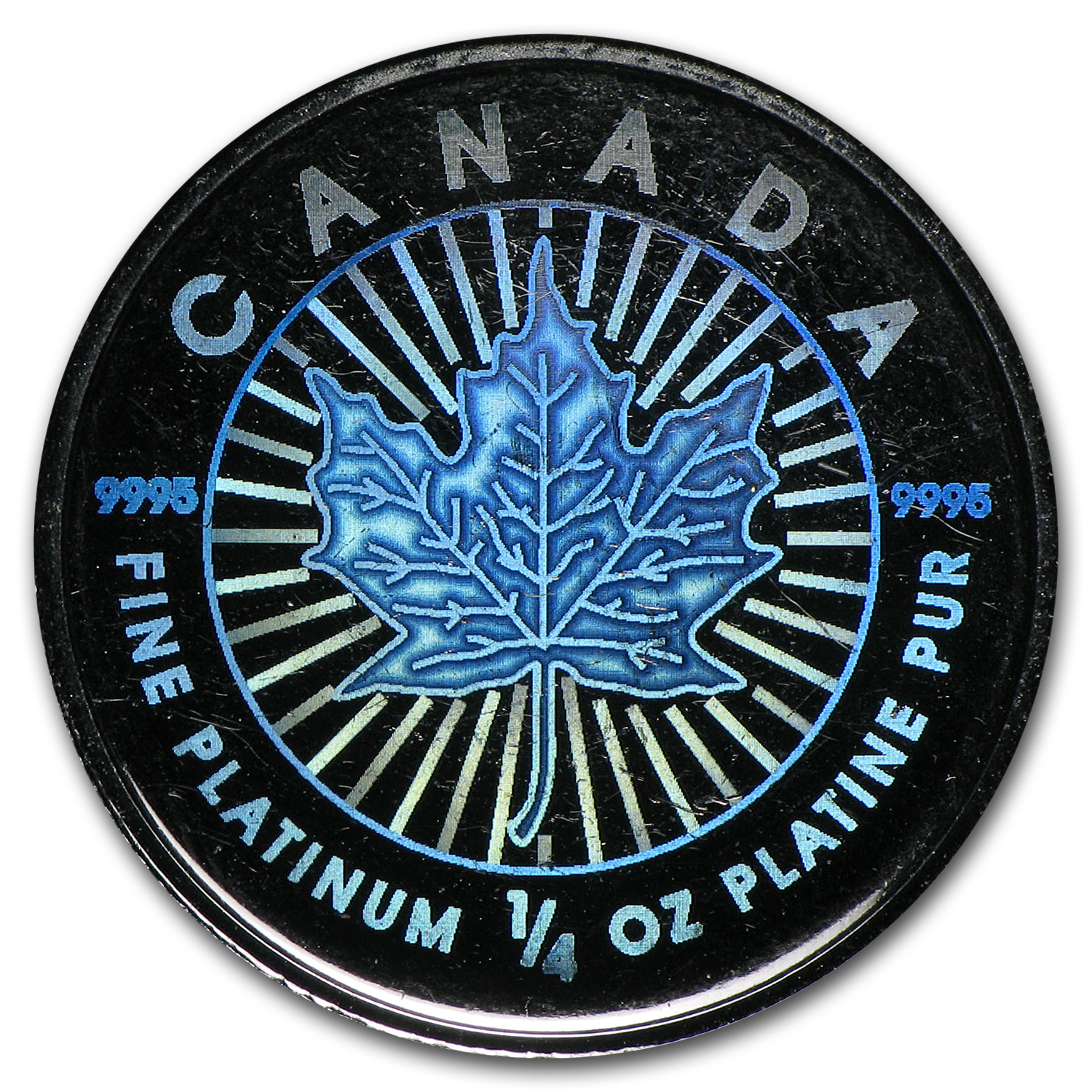 2002 Canada 1/4 oz Platinum Maple Leaf (Hologram)