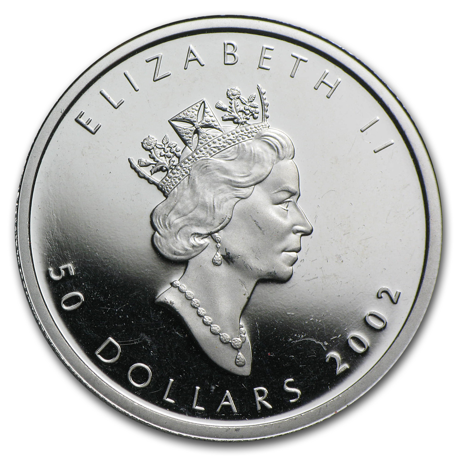 2002 1 oz Canadian Platinum Maple Leaf (Hologram)
