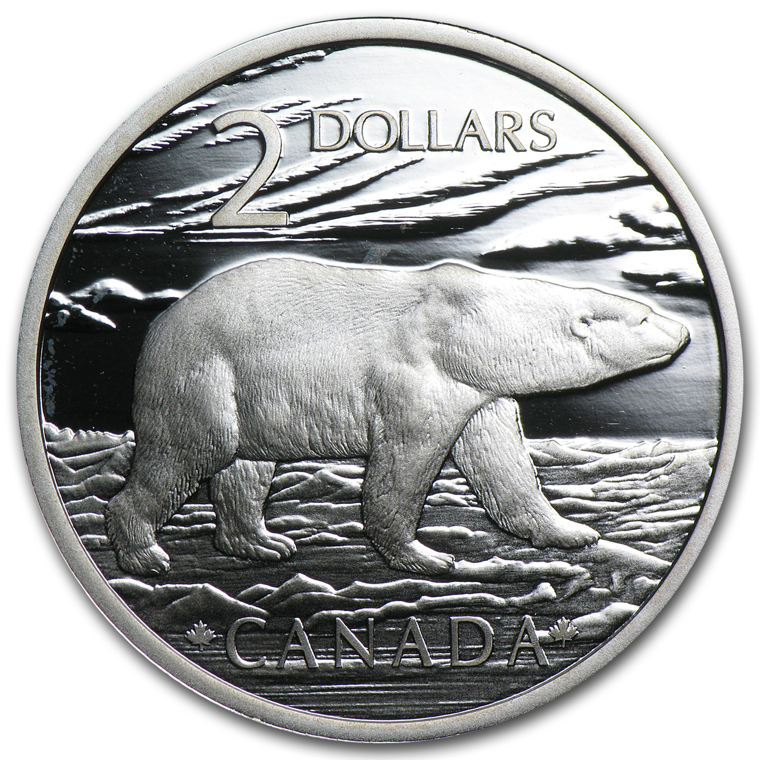 2004 Canada 1/4 oz Silver Polar Bear Coin & Stamp Set