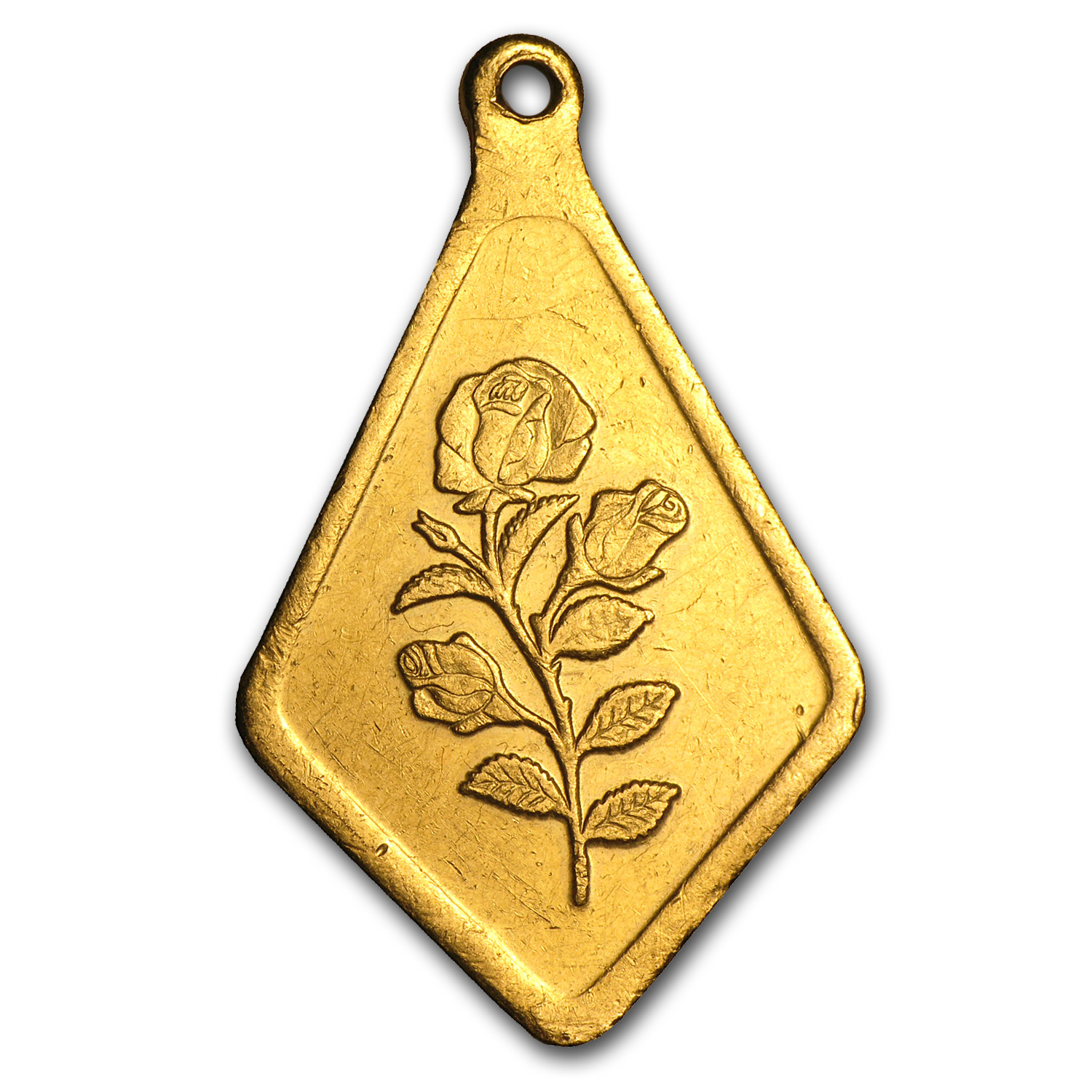 10 gram Gold Pendant - PAMP Suisse (Rose, Diamond, Scruffy)