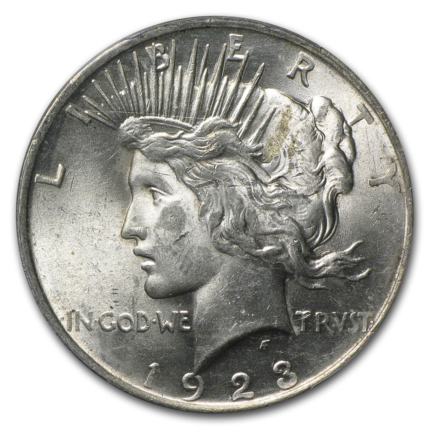 1923 Peace Dollar MS-62 PCGS VAM-1E Broken Wing Top-50