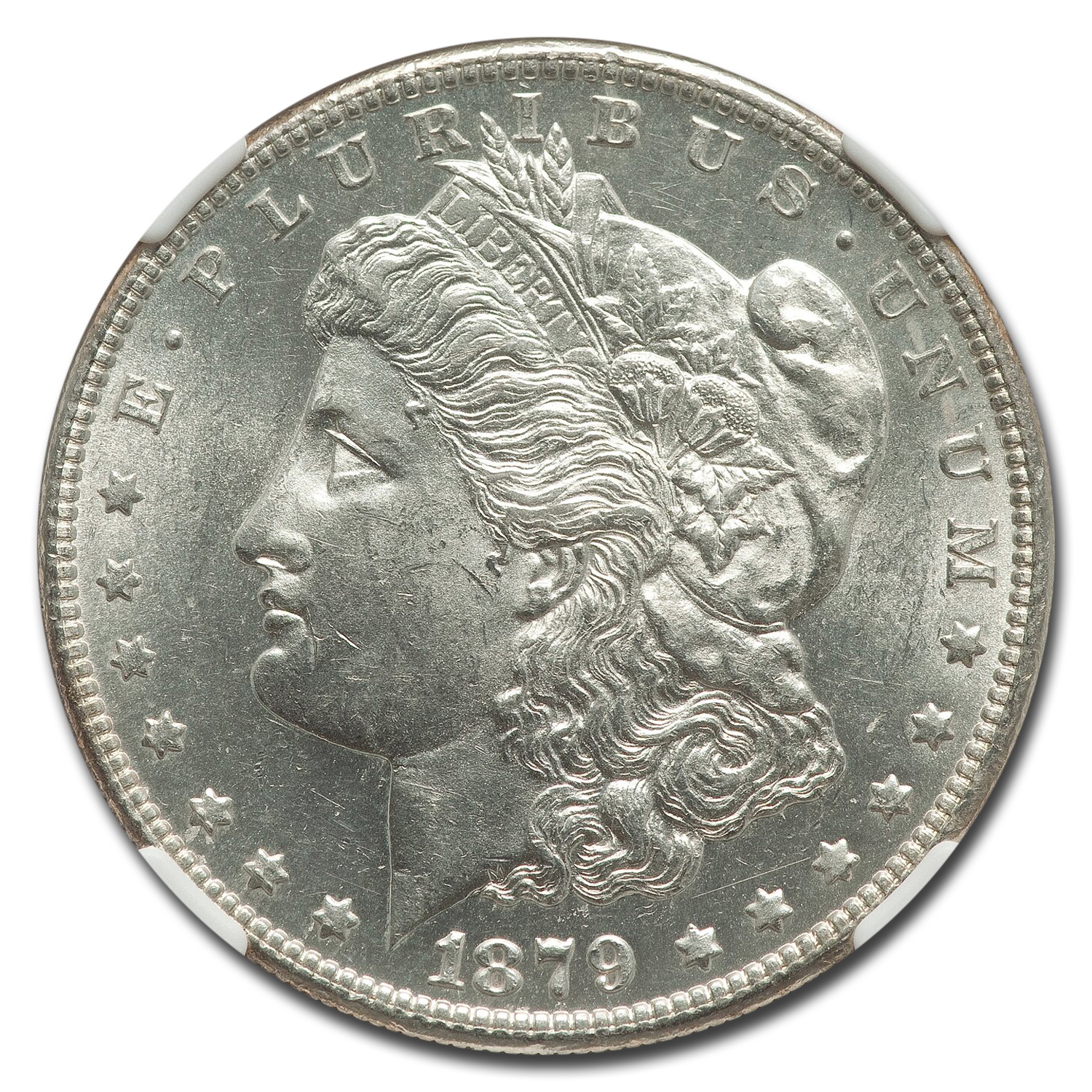 1879-S Morgan Dollar Rev of 78 MS-61 NGC (Top-100)