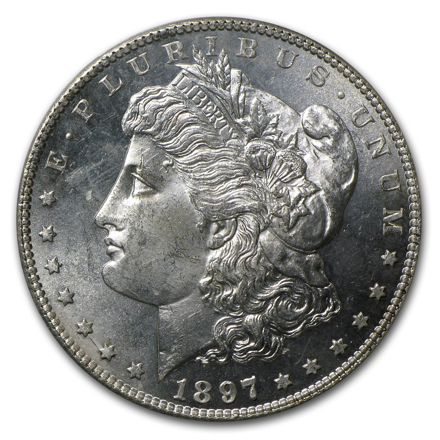 1897-S Morgan Dollar MS-64 Proof Like PCGS (CAC)
