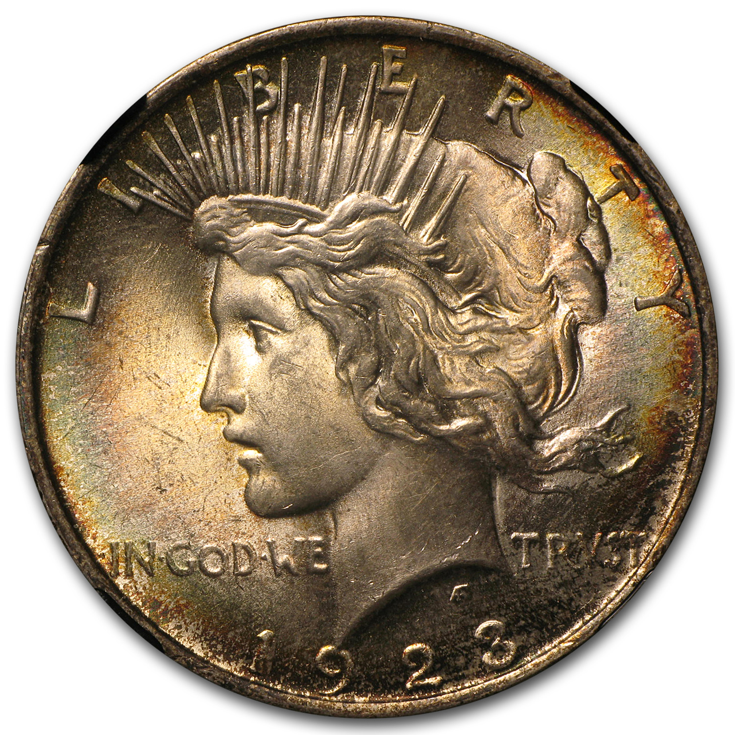 1923 Peace Dollar MS-64 NGC - Beautifully Toned
