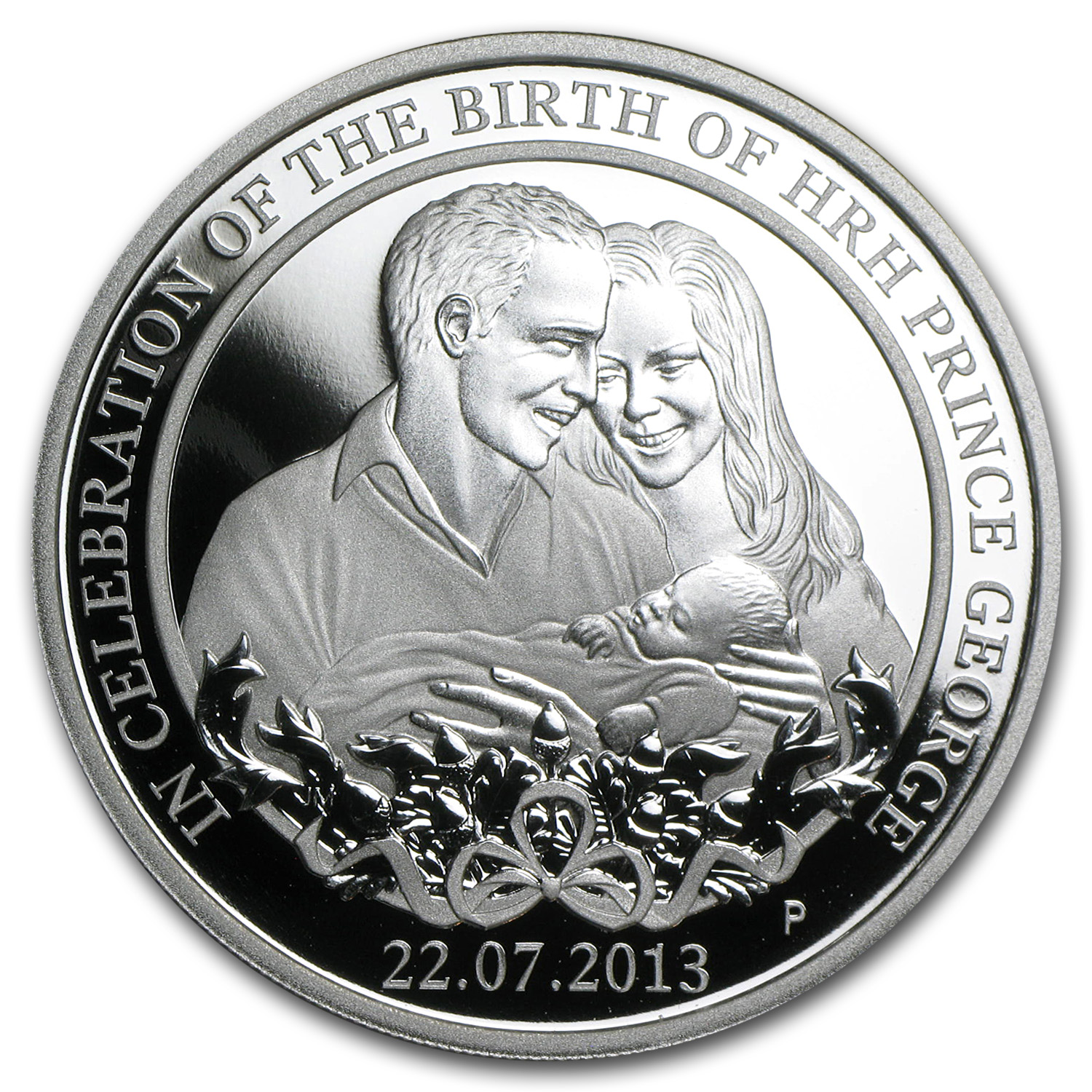 2013 1 oz Silver Australian Prince George Proof