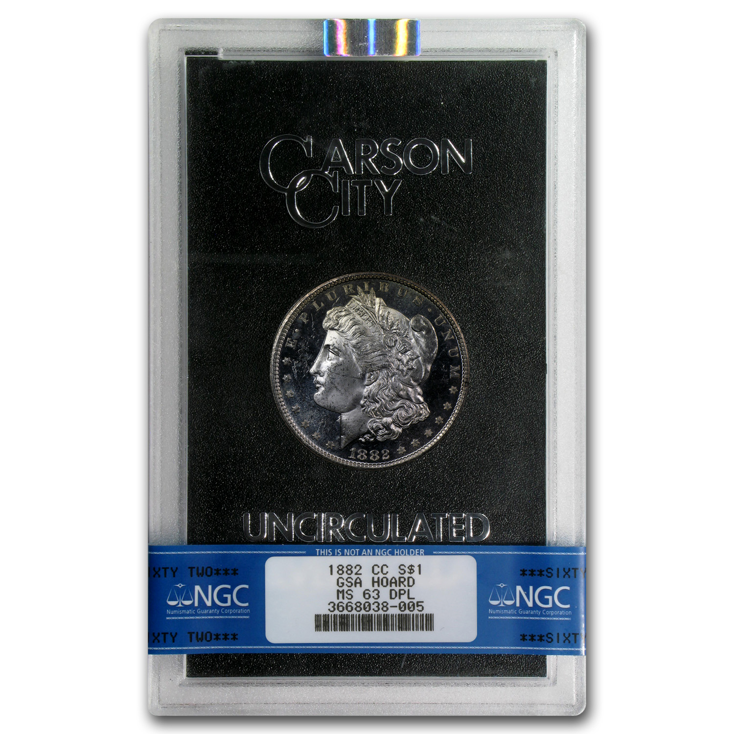 1882-CC Morgan Dollar MS-63 DPL NGC - GSA Certified