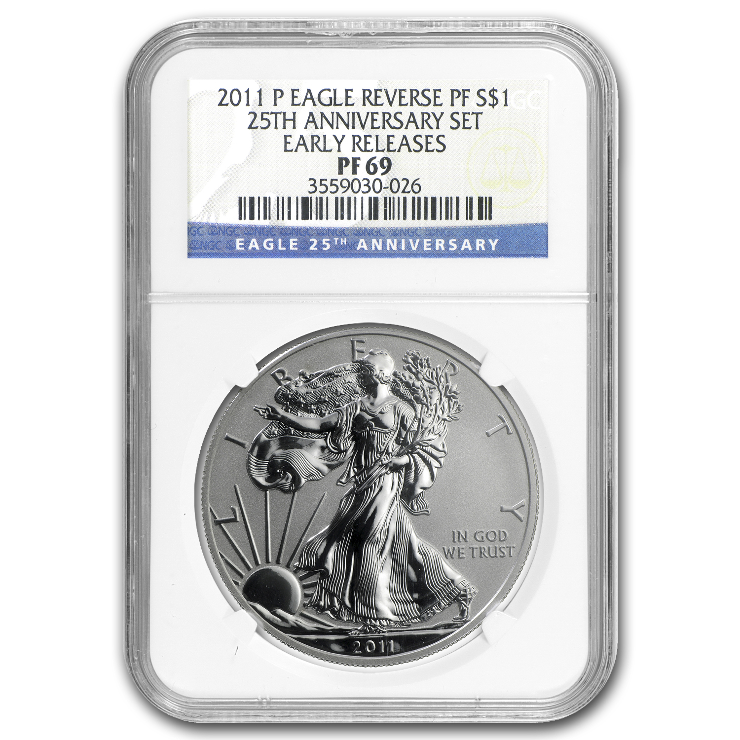 2011-P Reverse Proof Silver American Eagle PF-69 NGC