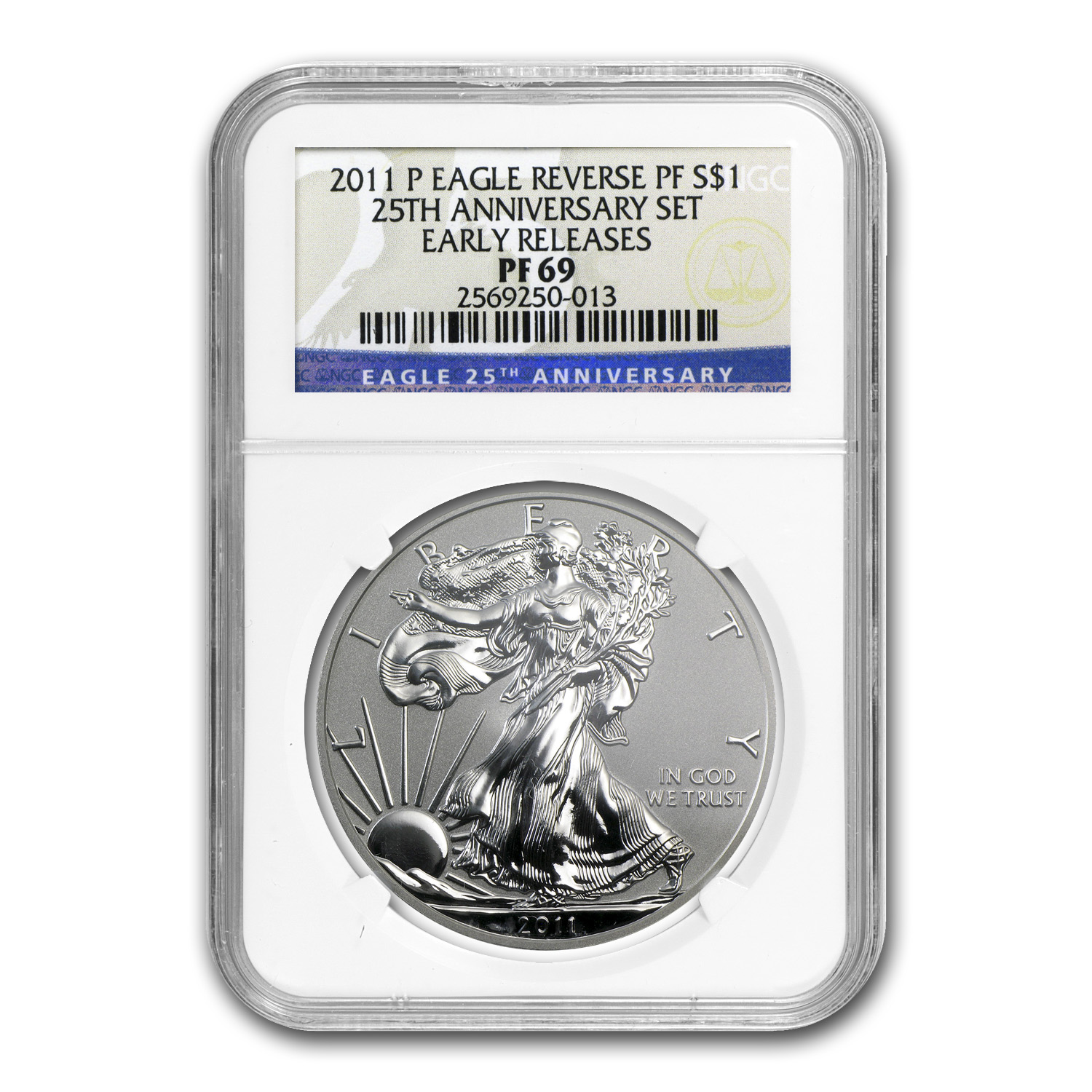2011-P Reverse Proof Silver American Eagle PF-69 NGC (ER)