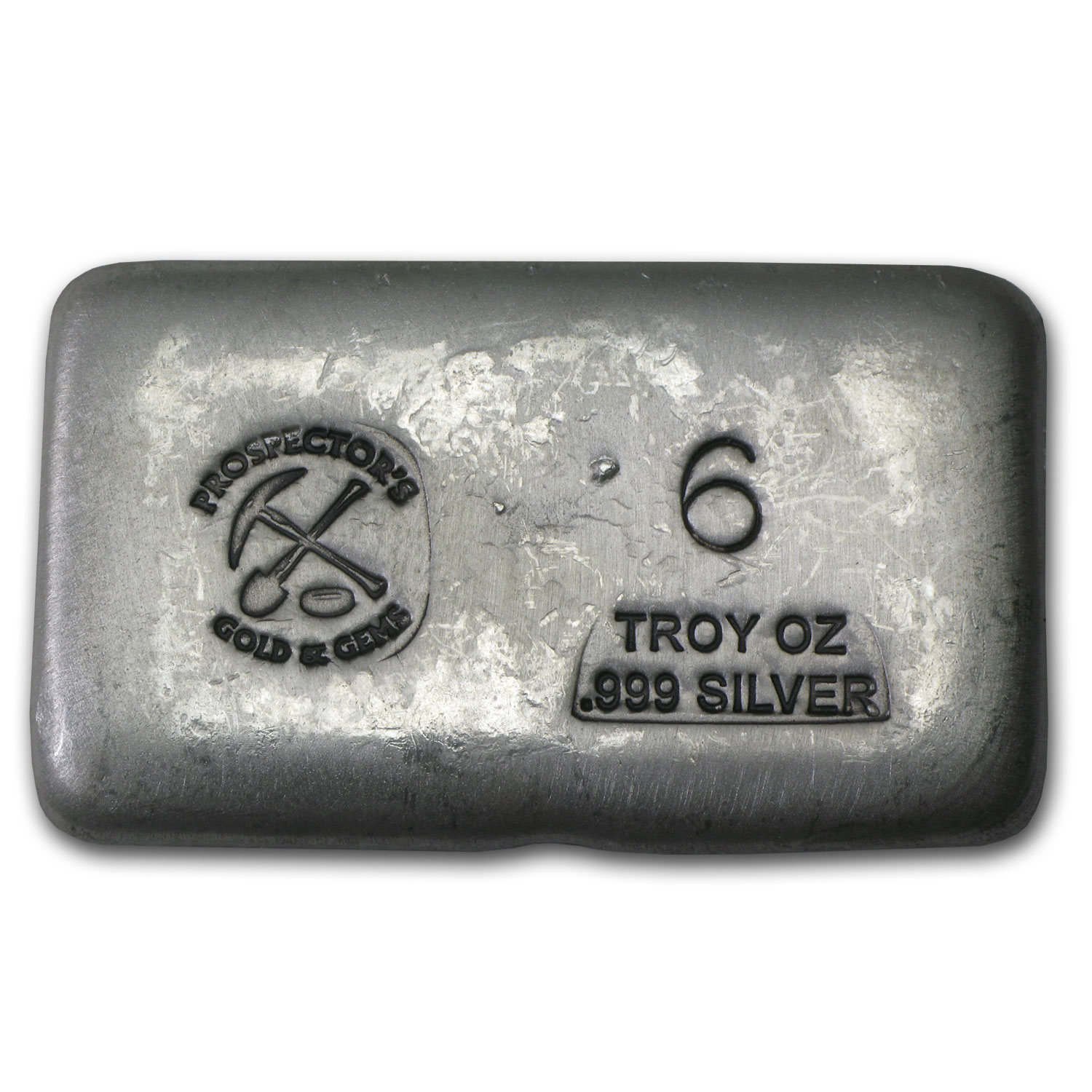 6 oz Silver Bar - Prospector's Gold & Gems