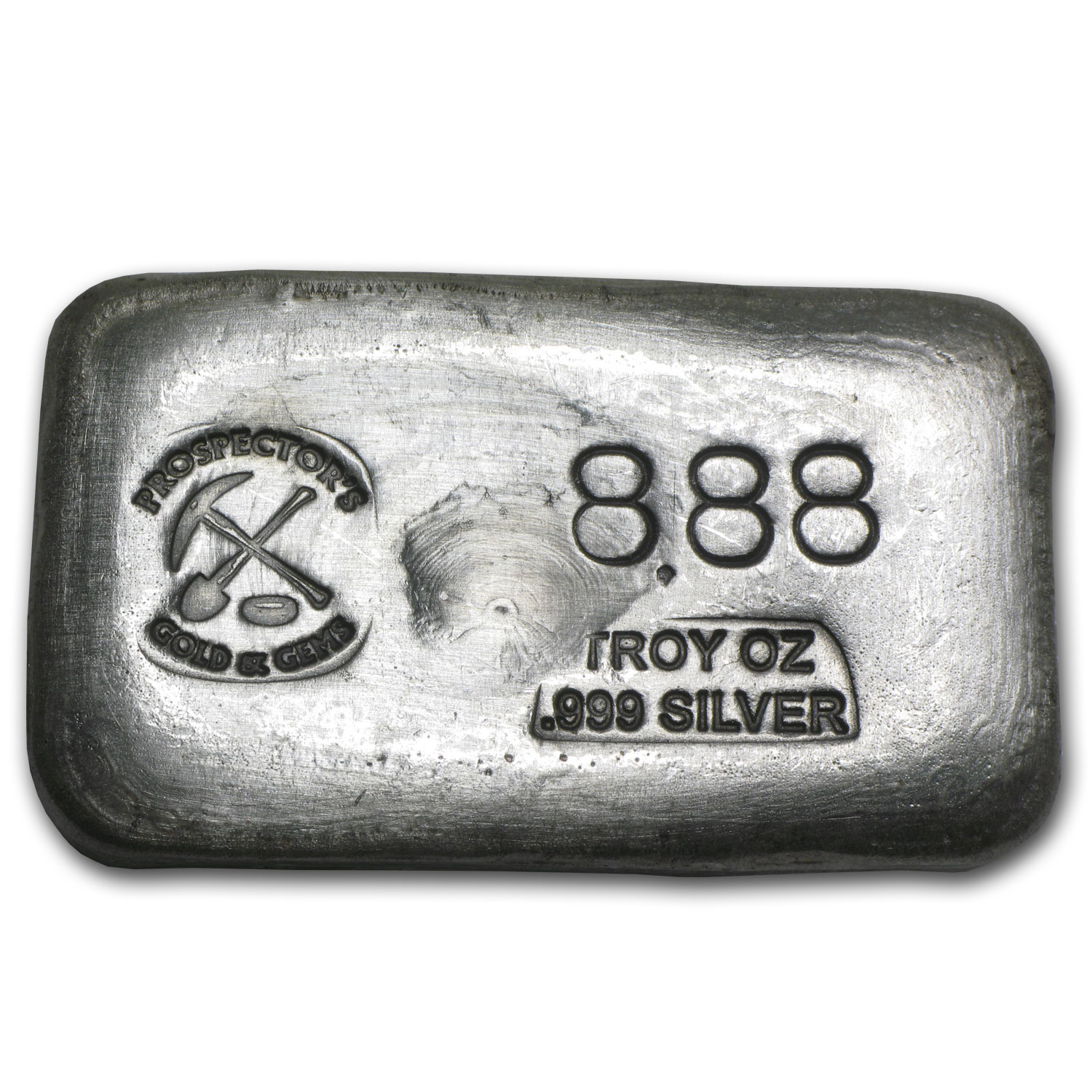 8.88 oz Silver Bar - Prospector's Gold & Gems