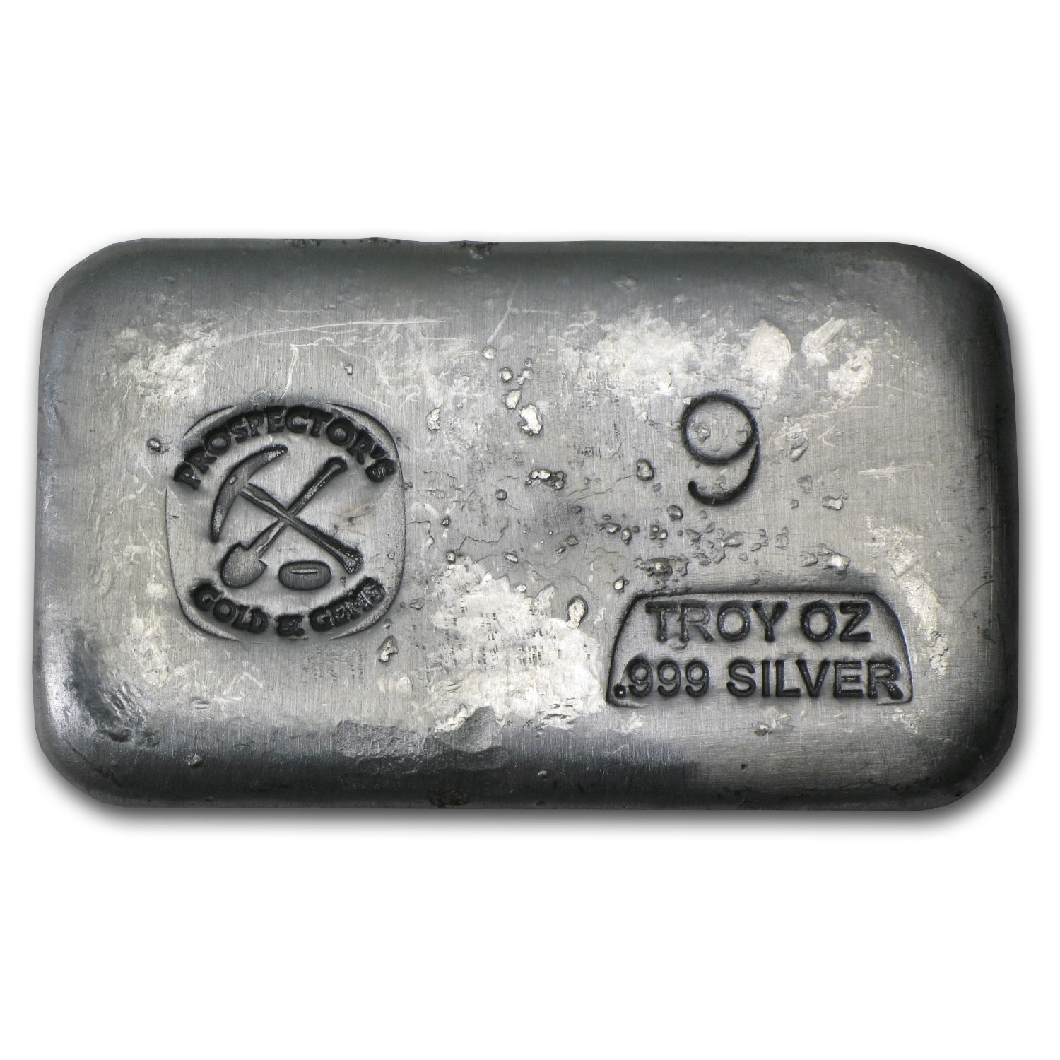 9 oz Silver Bar - Prospector's Gold & Gems