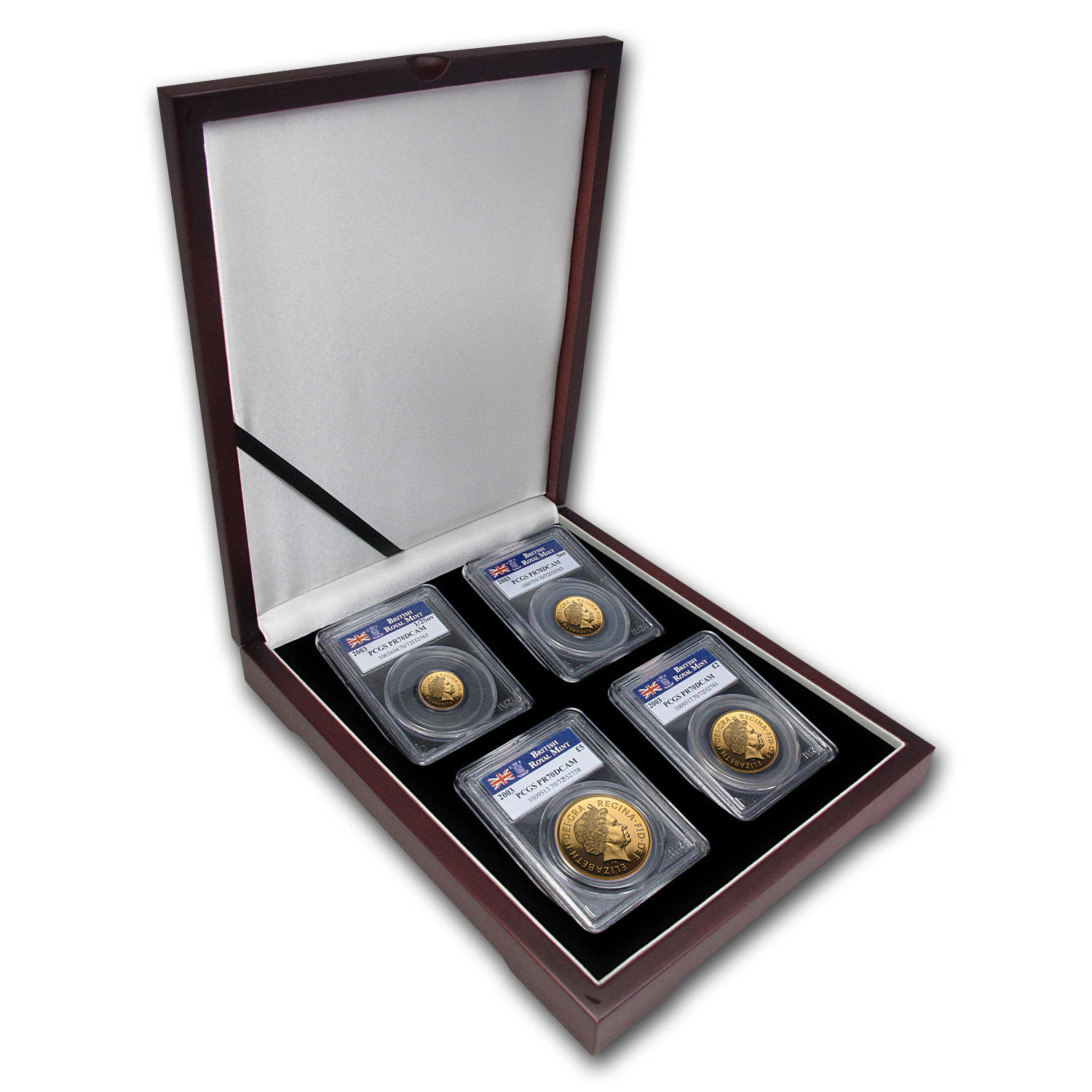 2003 Great Britain 4-Coin Gold Sovereign Set PR-70 PCGS