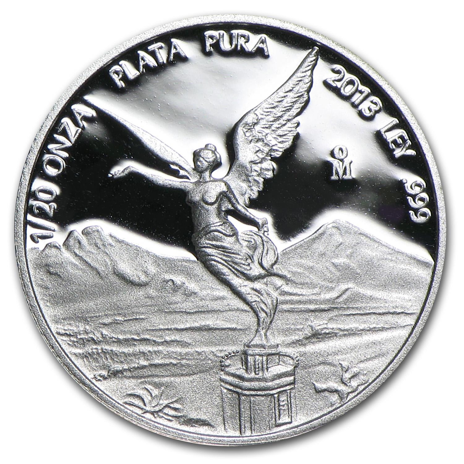 2013 Mexico 1/20 oz Silver Libertad Proof (In Capsule)