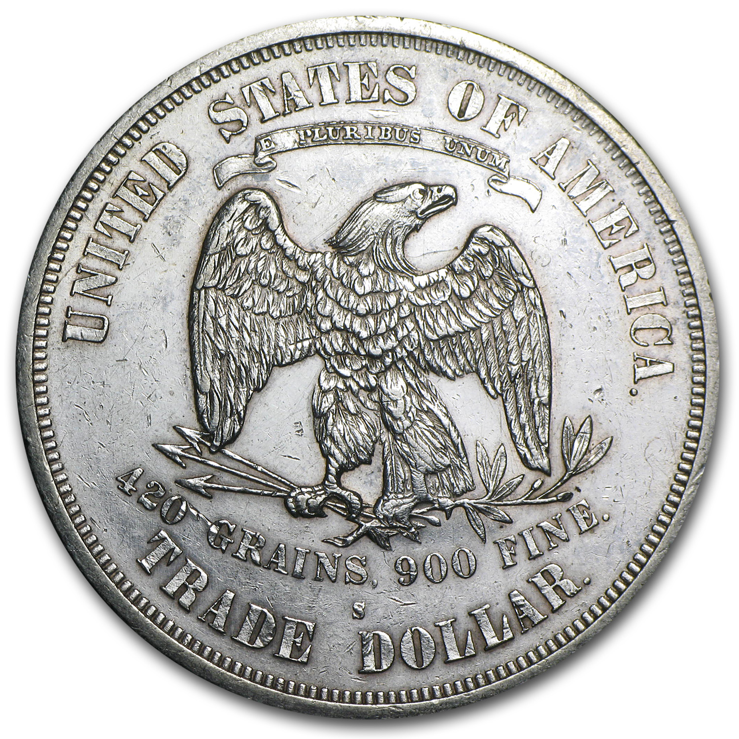 1873-S Trade Dollar Unc Details (Polished)