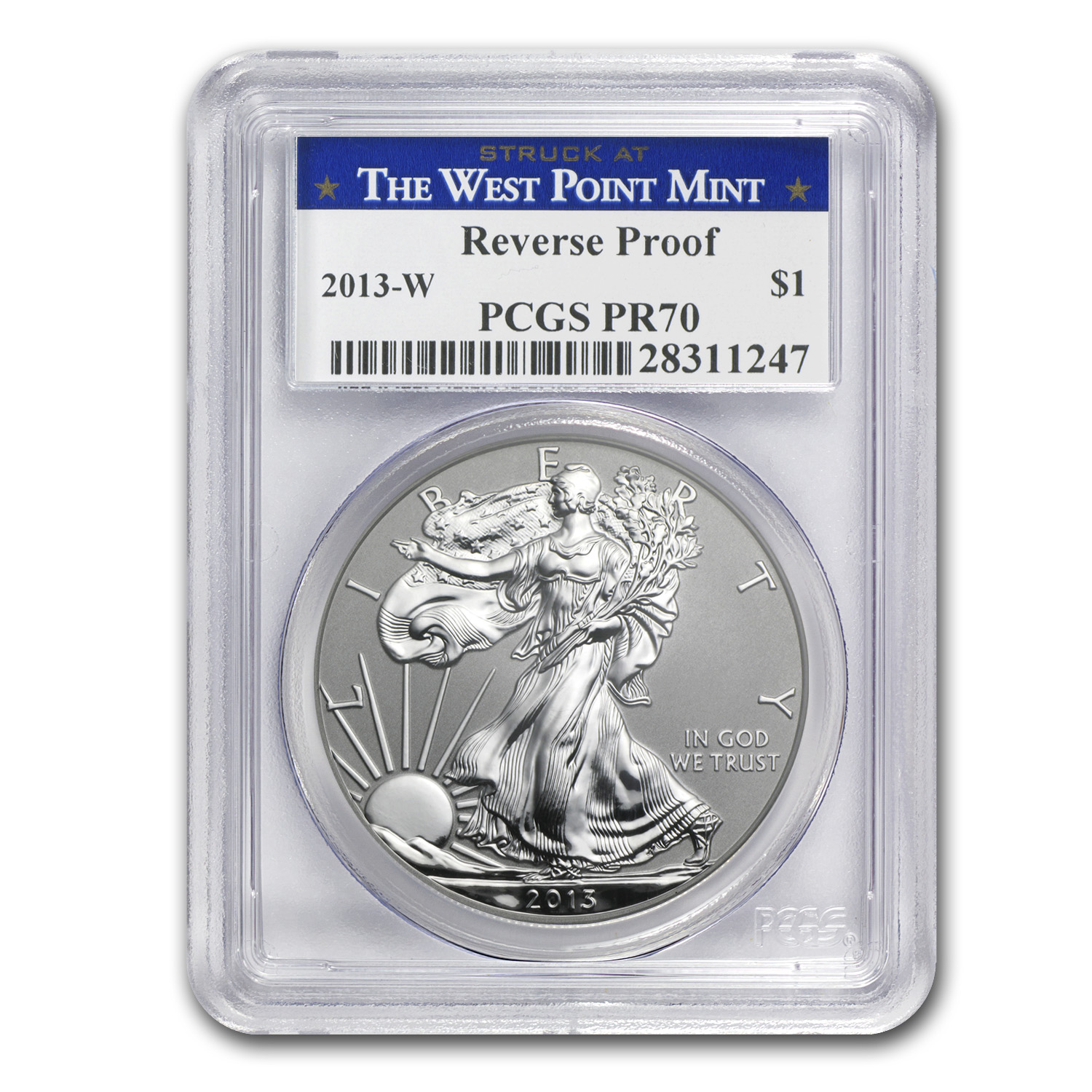 2013 American Silver Eagle West Point Set PCGS 70