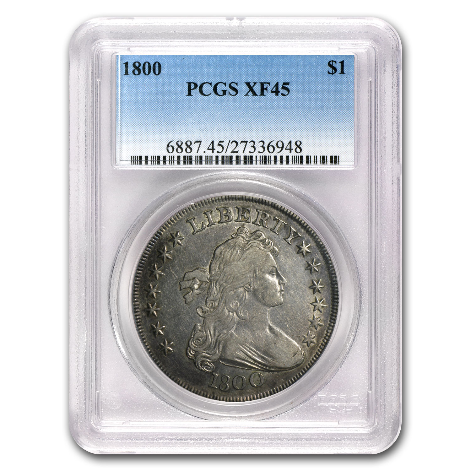1800 Draped Bust Dollar XF-45 PCGS